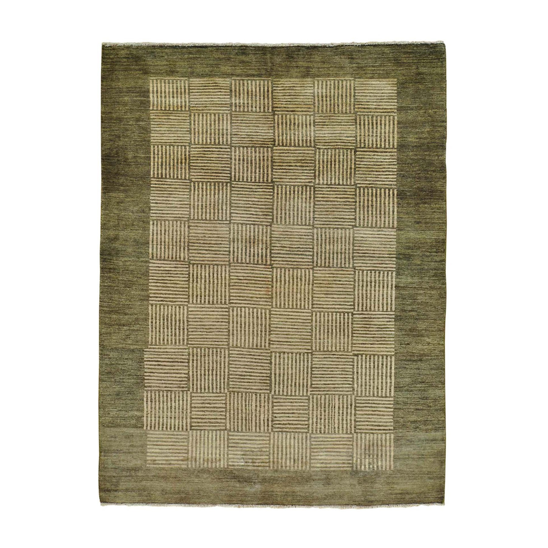 """5'8""""X8' Modern Gabbeh Hand Knotted Pure Wool Oriental Rug moab70d9"""