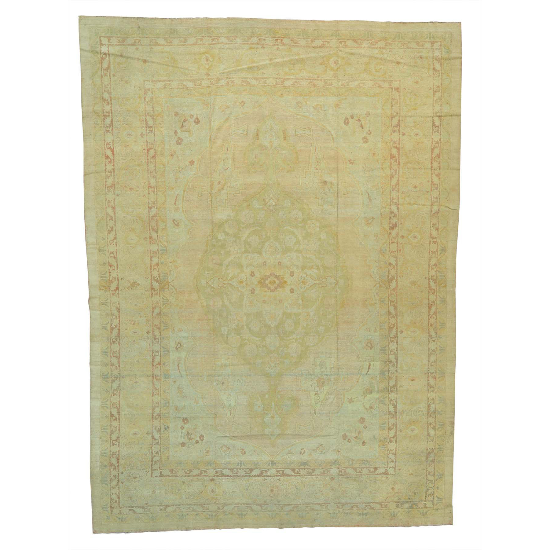 "12'1""X16'9"" Antique Agra Exc Cond Soft Colors Gallery Size Handmade Rug moab7a6c"