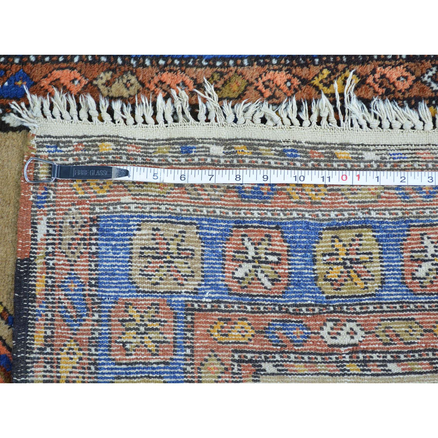 3-9 x14-4  Antique Persian Serab Camel Hair Exc Cond XL Runner Rug