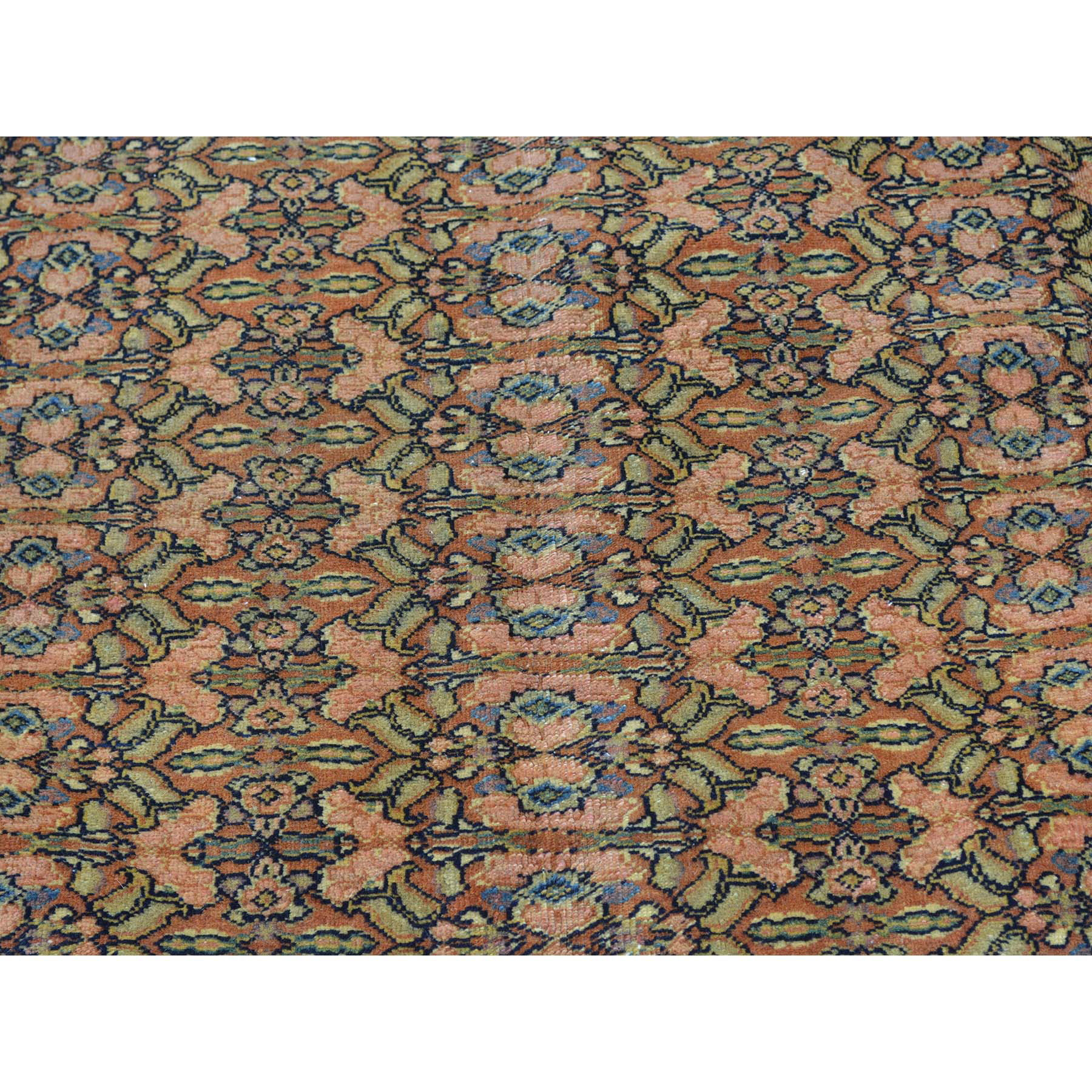 7-2 x9-10  Antique Persian Tabriz Full Pile Hand Knotted Oriental Rug