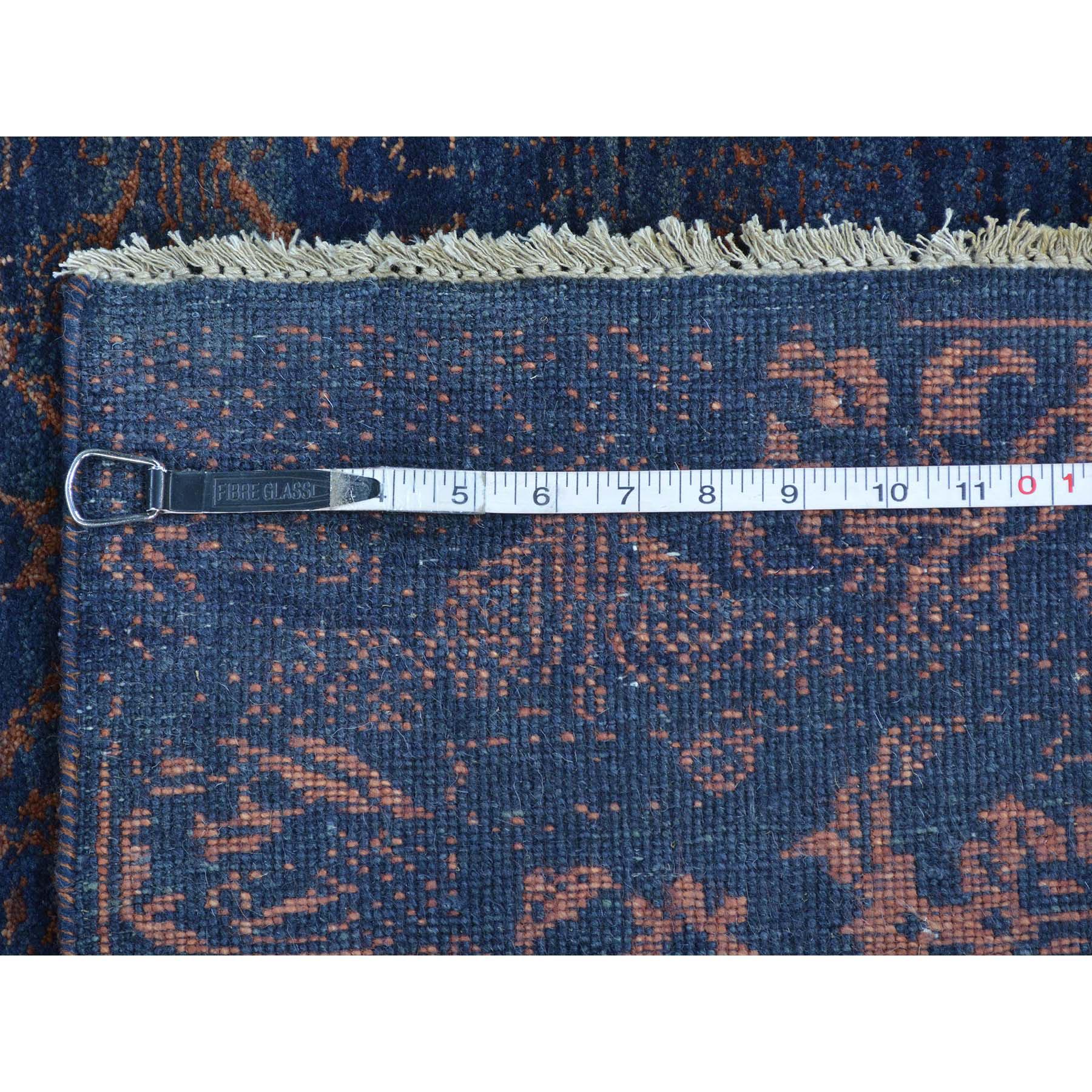 2-6 x9-10  Modern Wool And Silk Damask Runner Tone on Tone Handmade Rug