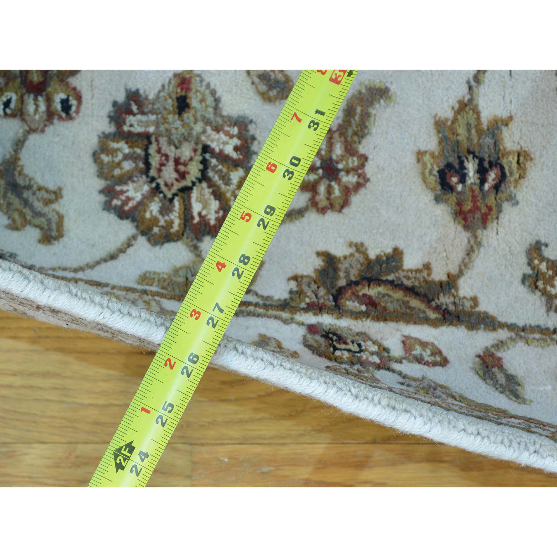 2-6 x19-6  Rajasthan Wool and Silk XL Runner Hand Knotted Oriental Rug