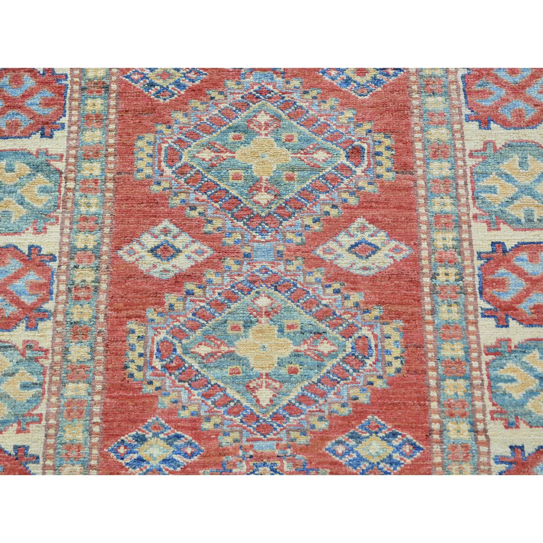 2-9 x10- Red Super Kazak Runner Pure Wool Hand Knotted Oriental Rug