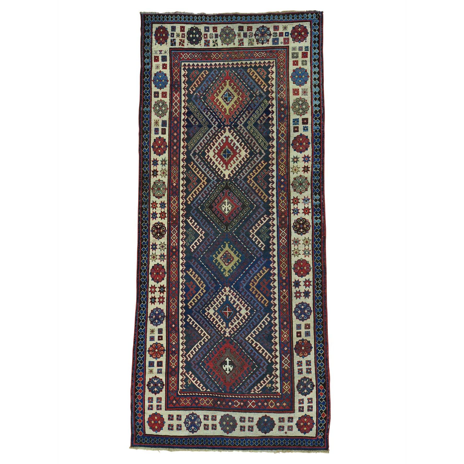 4'X9' Antique Caucasian Talesh Exc Cond Wide Runner Hand Knotted Rug moab8bb8