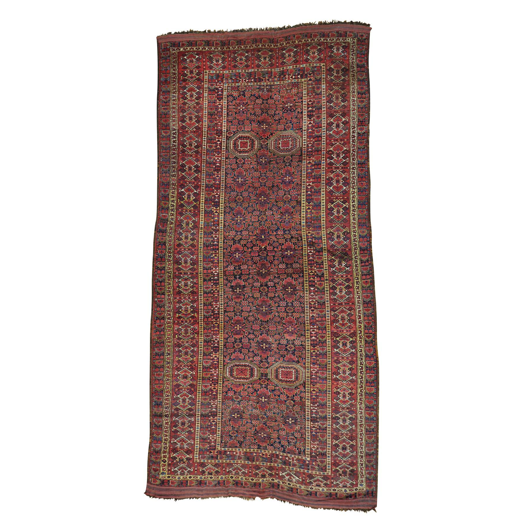 """10'X21'6"""" Gallery Size Antique Afghan Beshir Exc Cond Pure Wool Rug moab8bc7"""