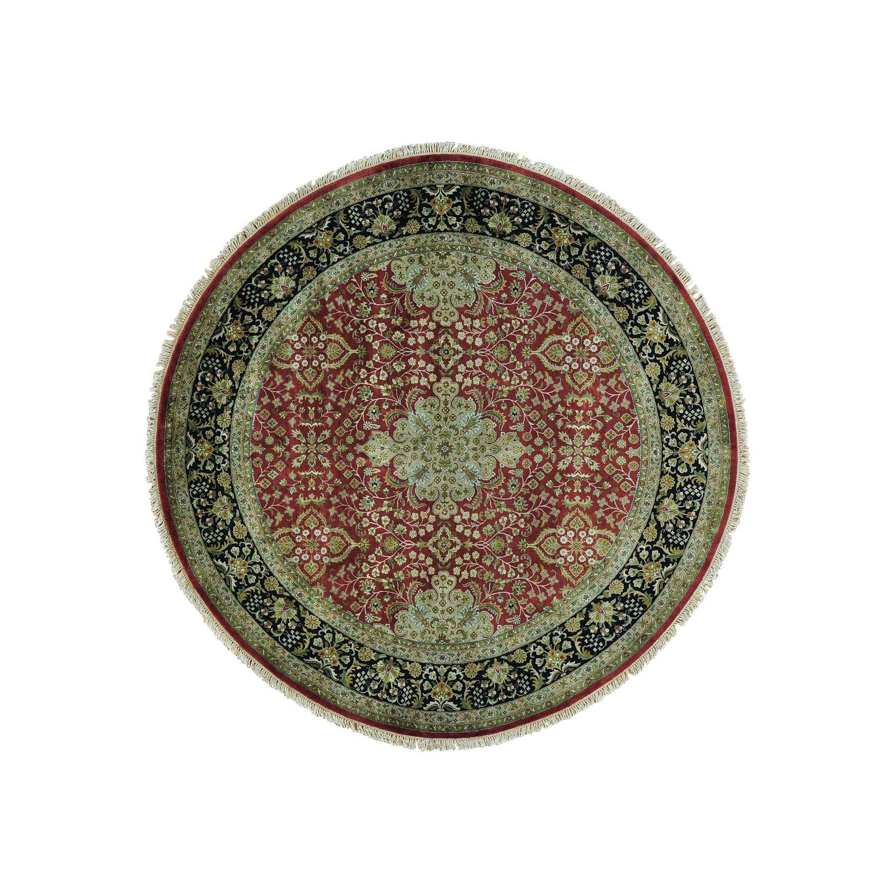 8'X8' New Zealand Wool Round Kashan Revival 300 Kpsi Oriental Rug moab8c6c