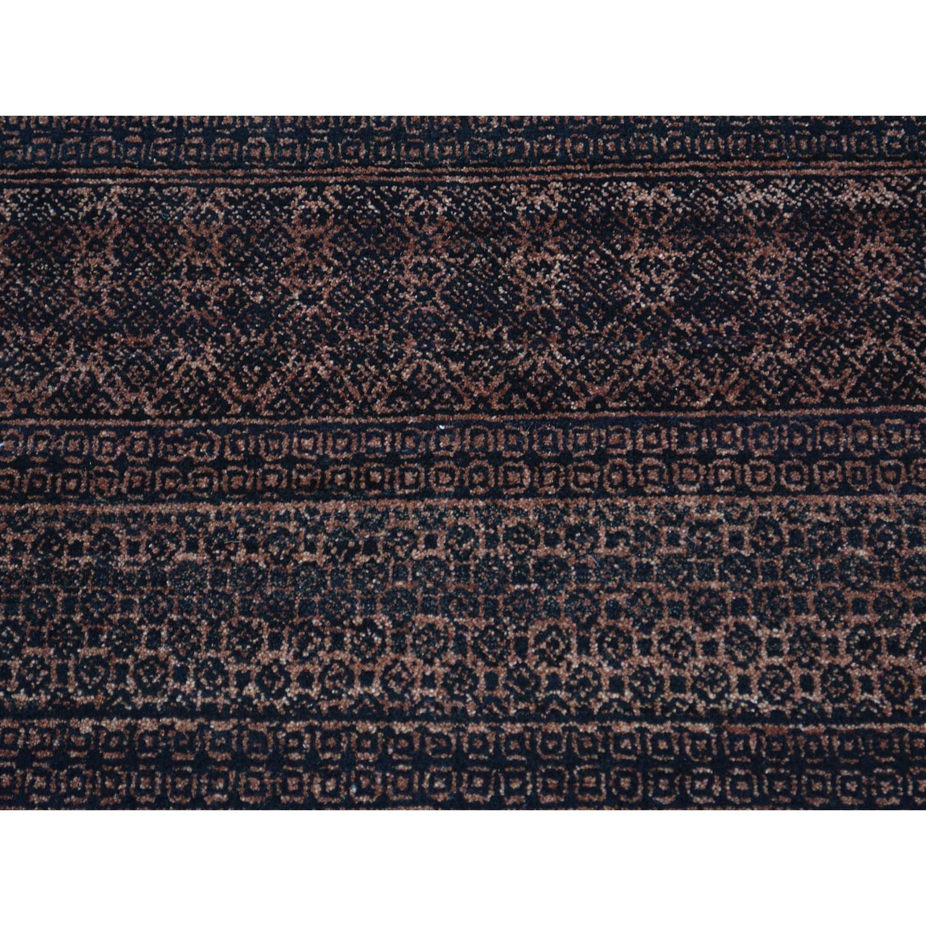 3-9 x6- Pure Wool Modern Gabbeh Tone on Tone Hand Knotted Oriental Rug