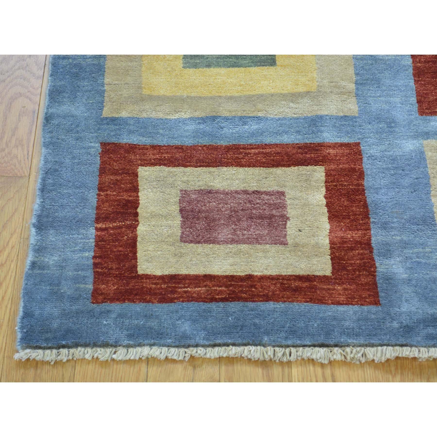 3-2 x4-6  Peshawar Gabbeh Silky Wool Hand Knotted Oriental Rug