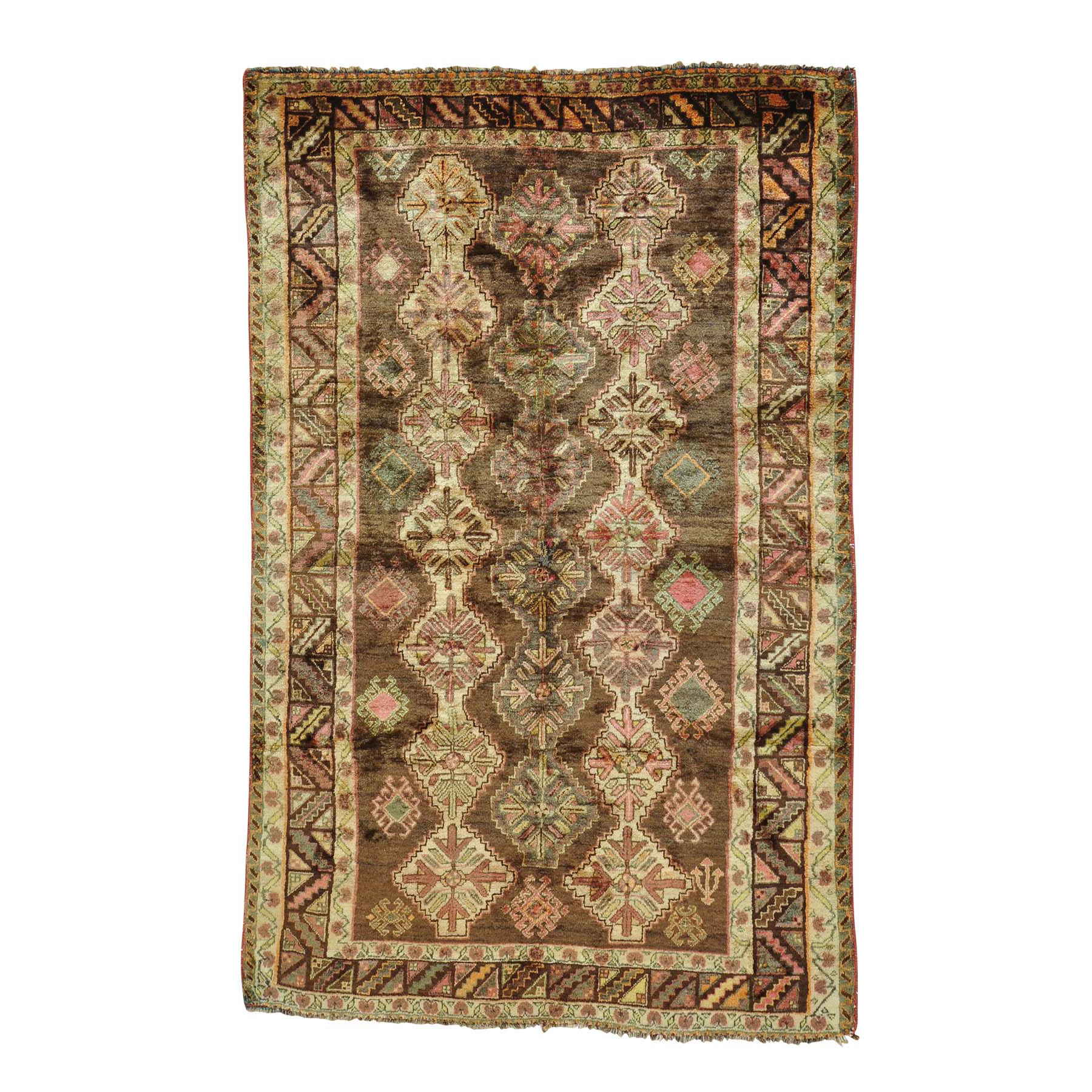 """5'x7'9"""" Semi Antique Persian Shiraz Exc Cond Hand Knotted Rug"""