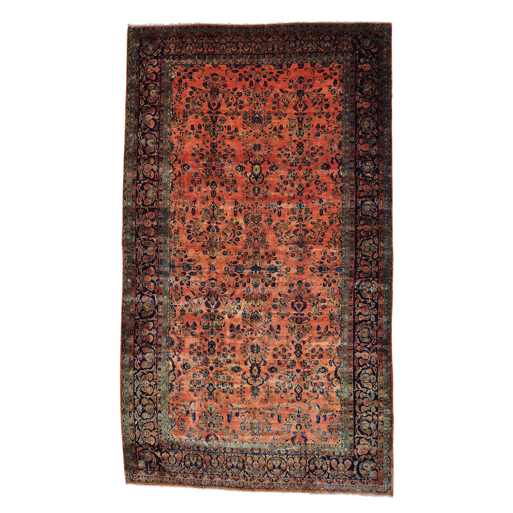 "12'3""X21'4"" Antique Persian Maharajan Sarouk Full Pile Oversize Rug moab9c87"