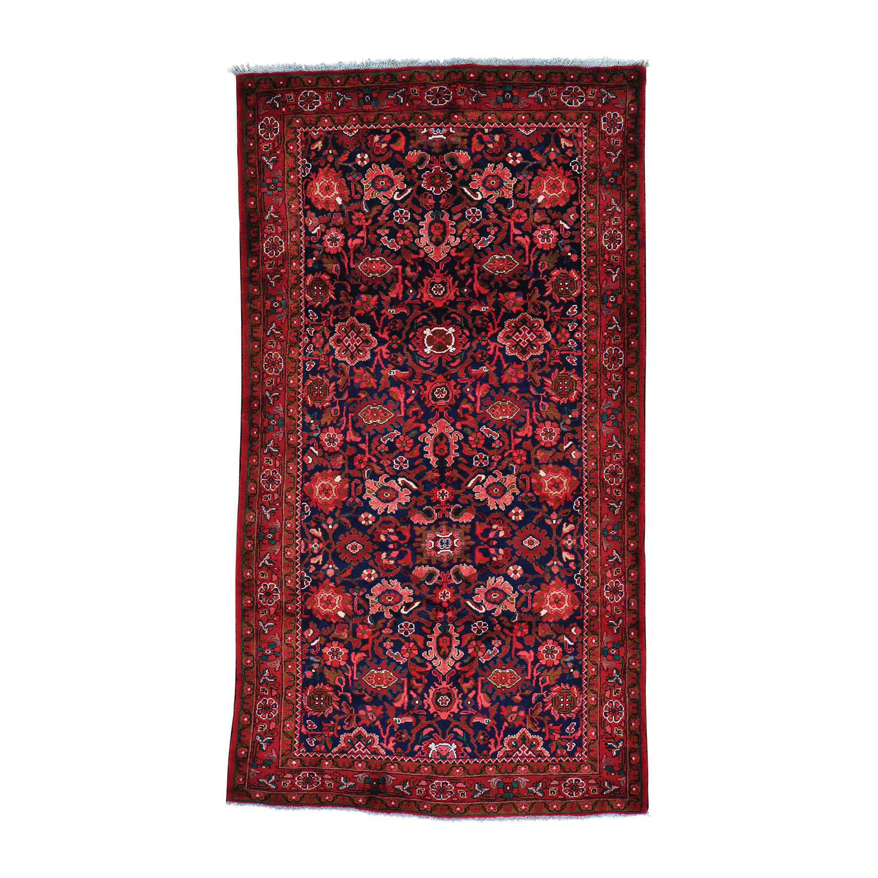 """5'4""""X9'8"""" Persian Mahal Wide Runner Pure Wool Hand Knotted Oriental Rug moab9e90"""