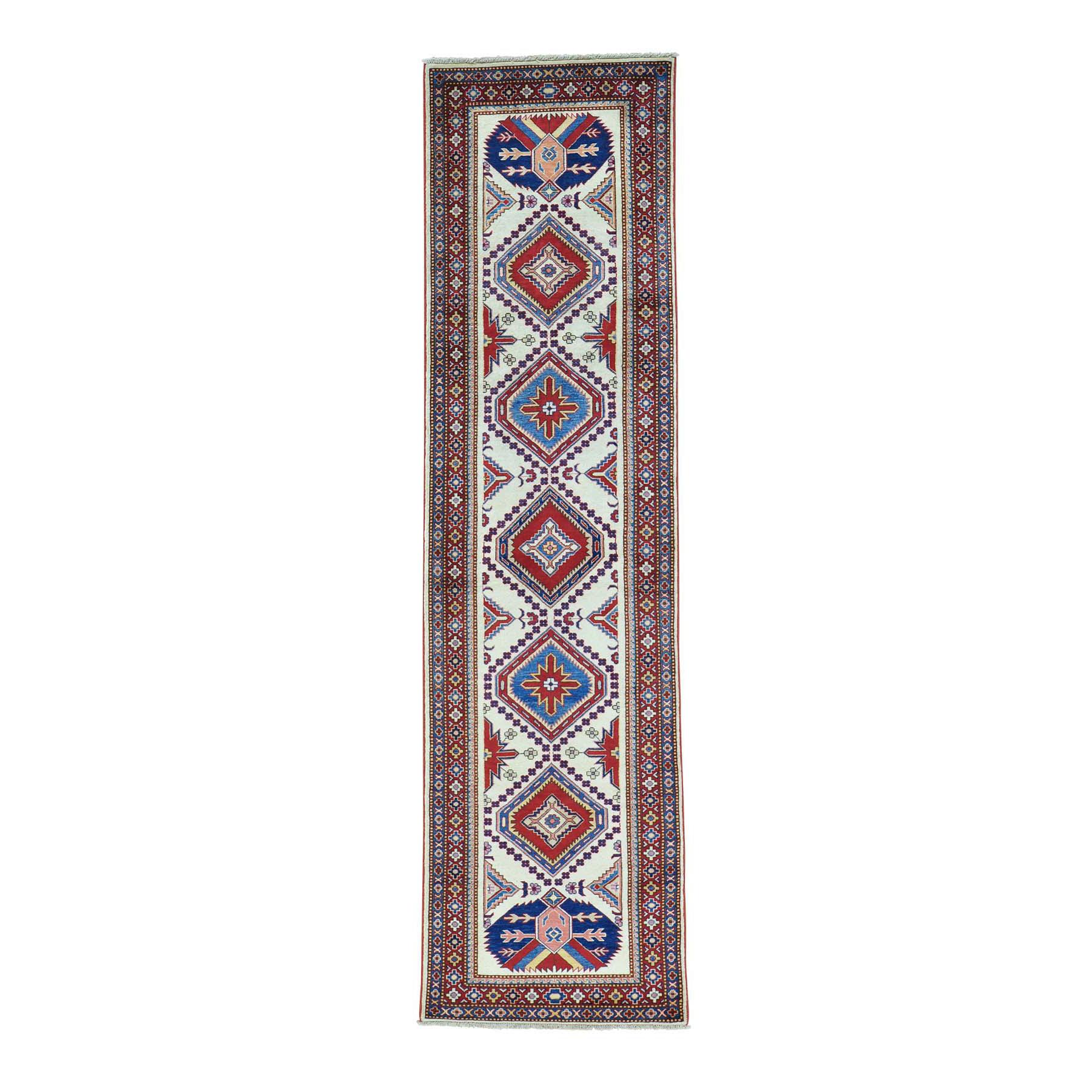 "2'6""X9'4"" Shirvan Design Super Kazak Hand Knotted Runner Oriental Rug moab96bd"