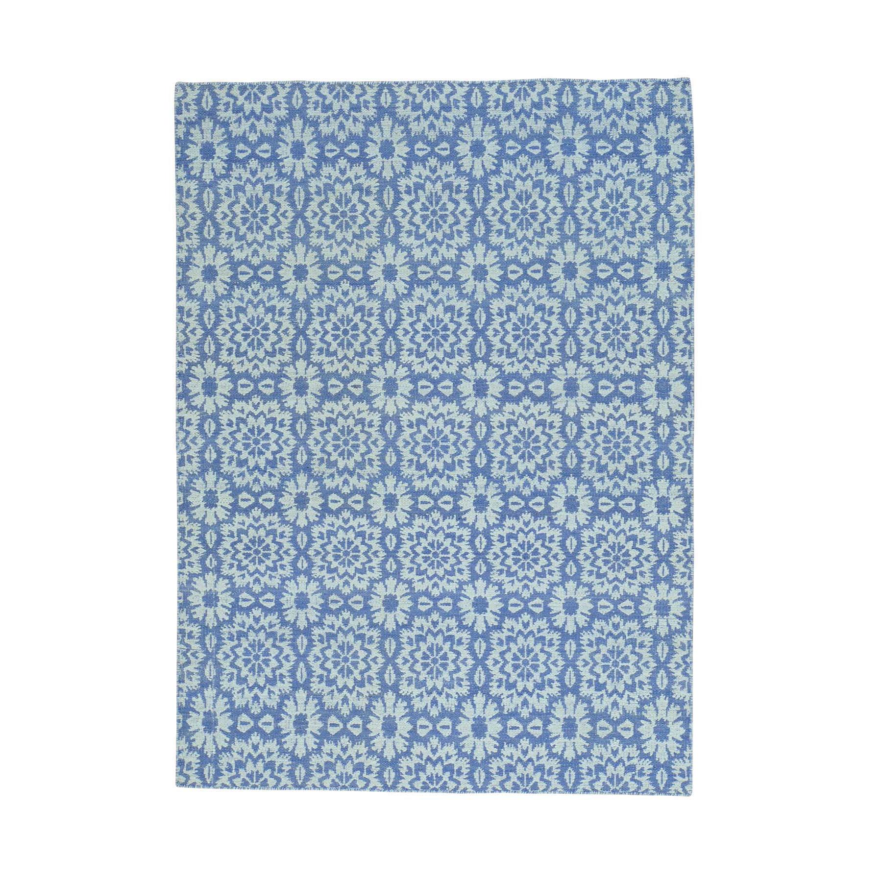 "5'3""X7'5"" Hand Woven Reversible Flat Weave Kilim Oriental Rug moab98ad"