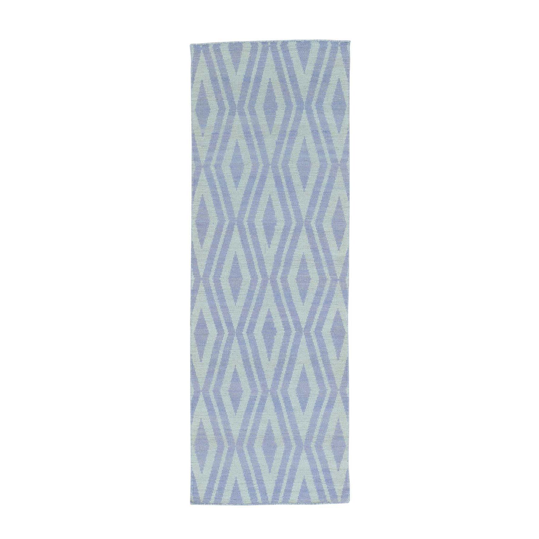 "2'8""X8' Runner Hand Woven Flat Weave Reversible Kilim Oriental Rug moab98b9"