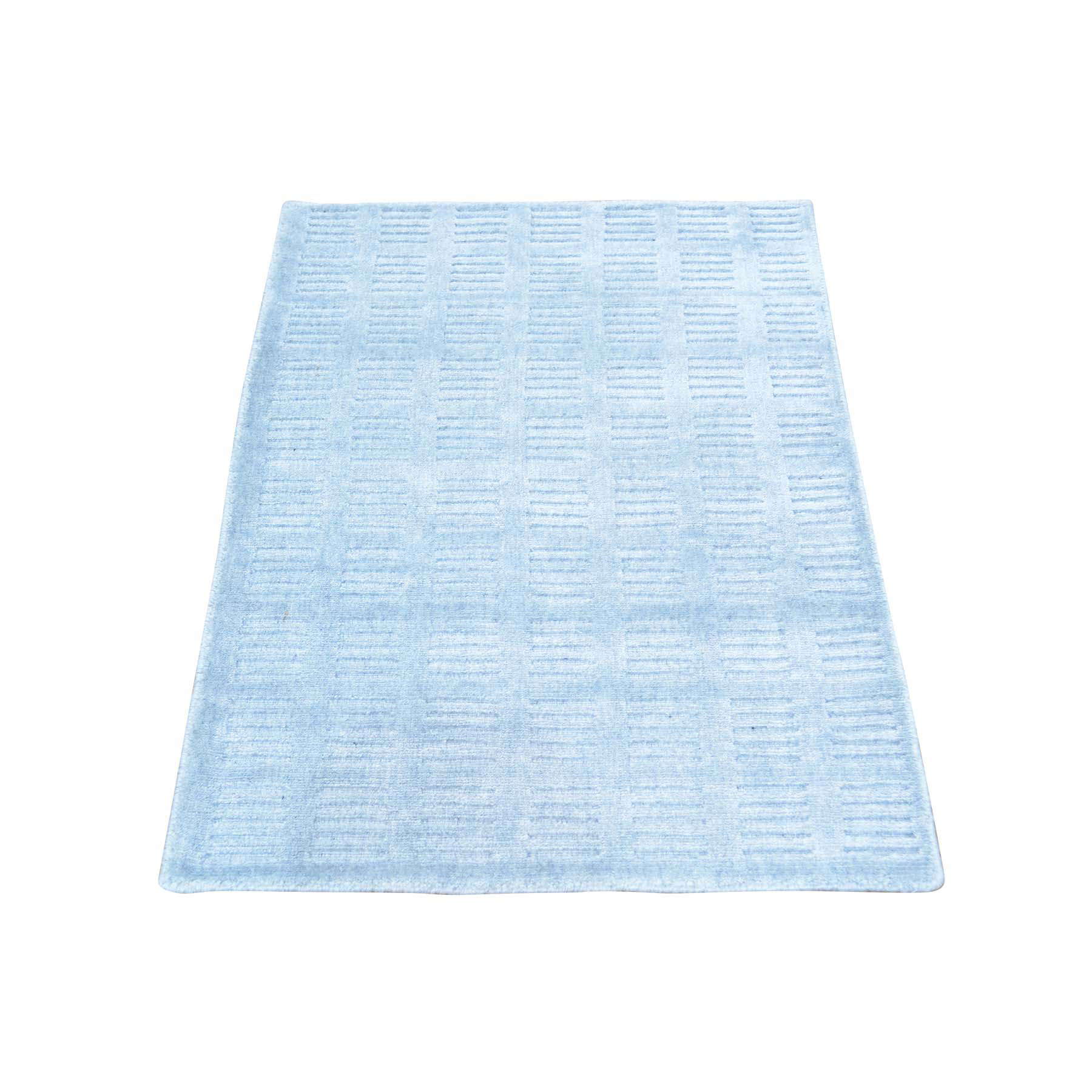 2'X3' Wool And Silk Tone On Tone Hand Loomed Rug moab99d8