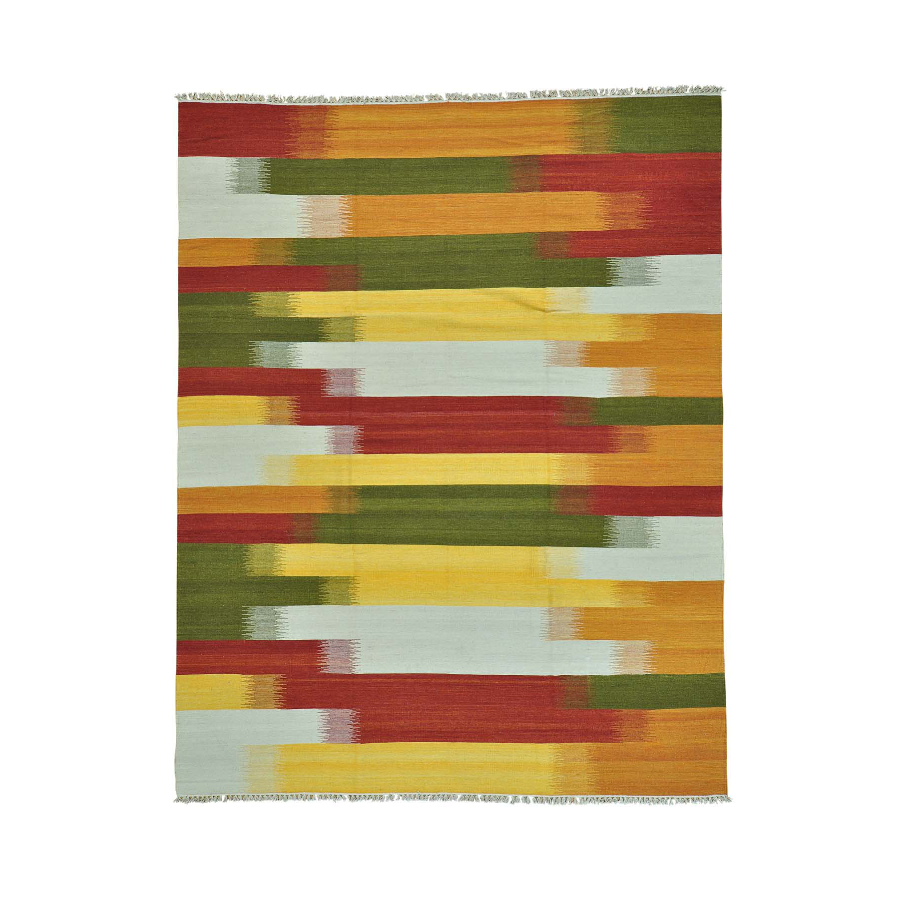 "8'X10'3"" Colorful Durie Kilim Reversible Flat Weave Hand Woven Rug moab999c"