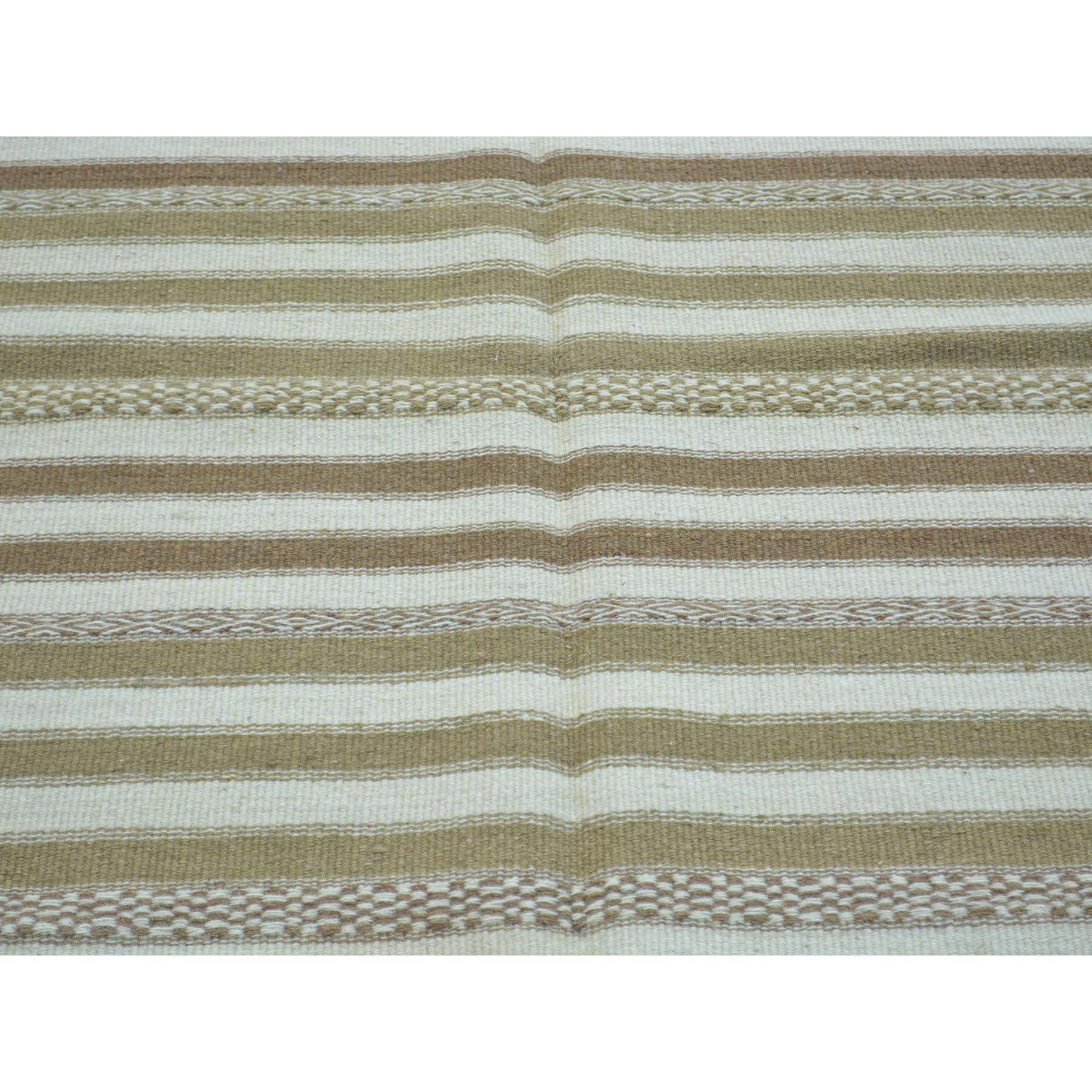 3-10 x5-10  Hand Woven Striped Durie Kilim Pure Wool Flat Weave Rug
