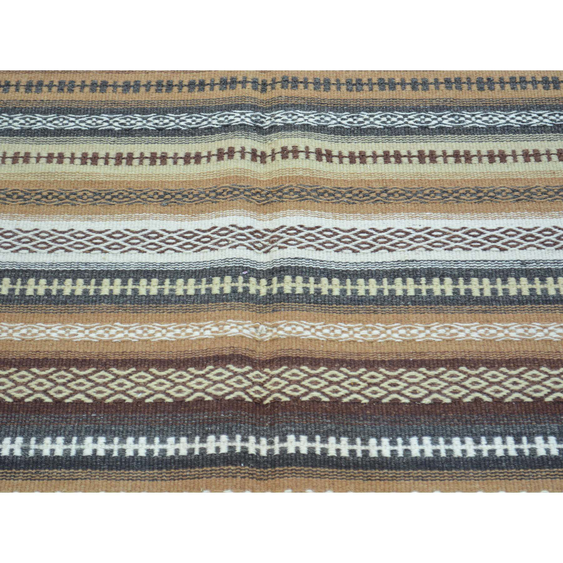 3-10 x6- Reversible Flat Weave Pure Wool Colorful Durie Kilim Rug