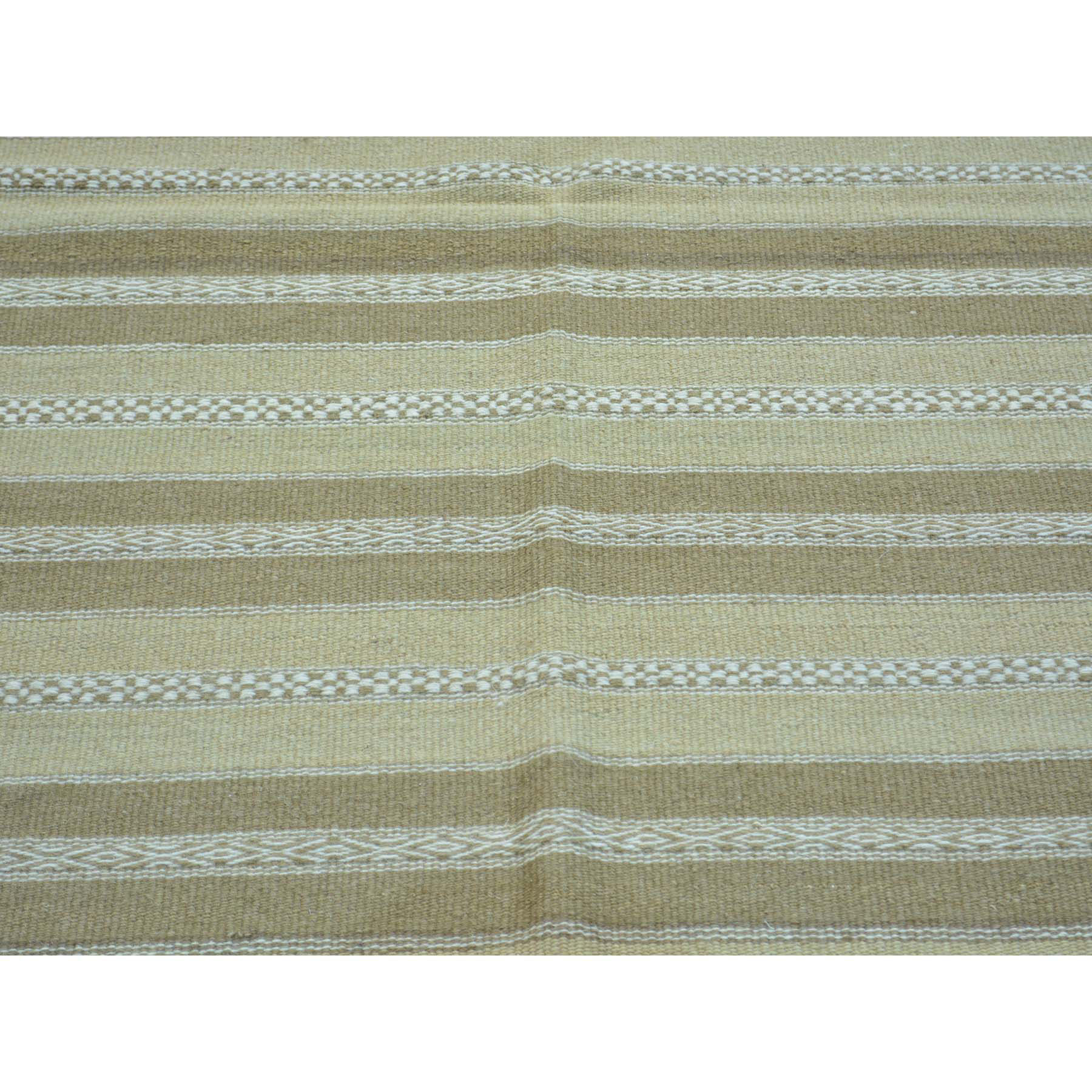 3-10 x6- Pure Wool Reversible Flat Weave Striped Durie Kilim Rug
