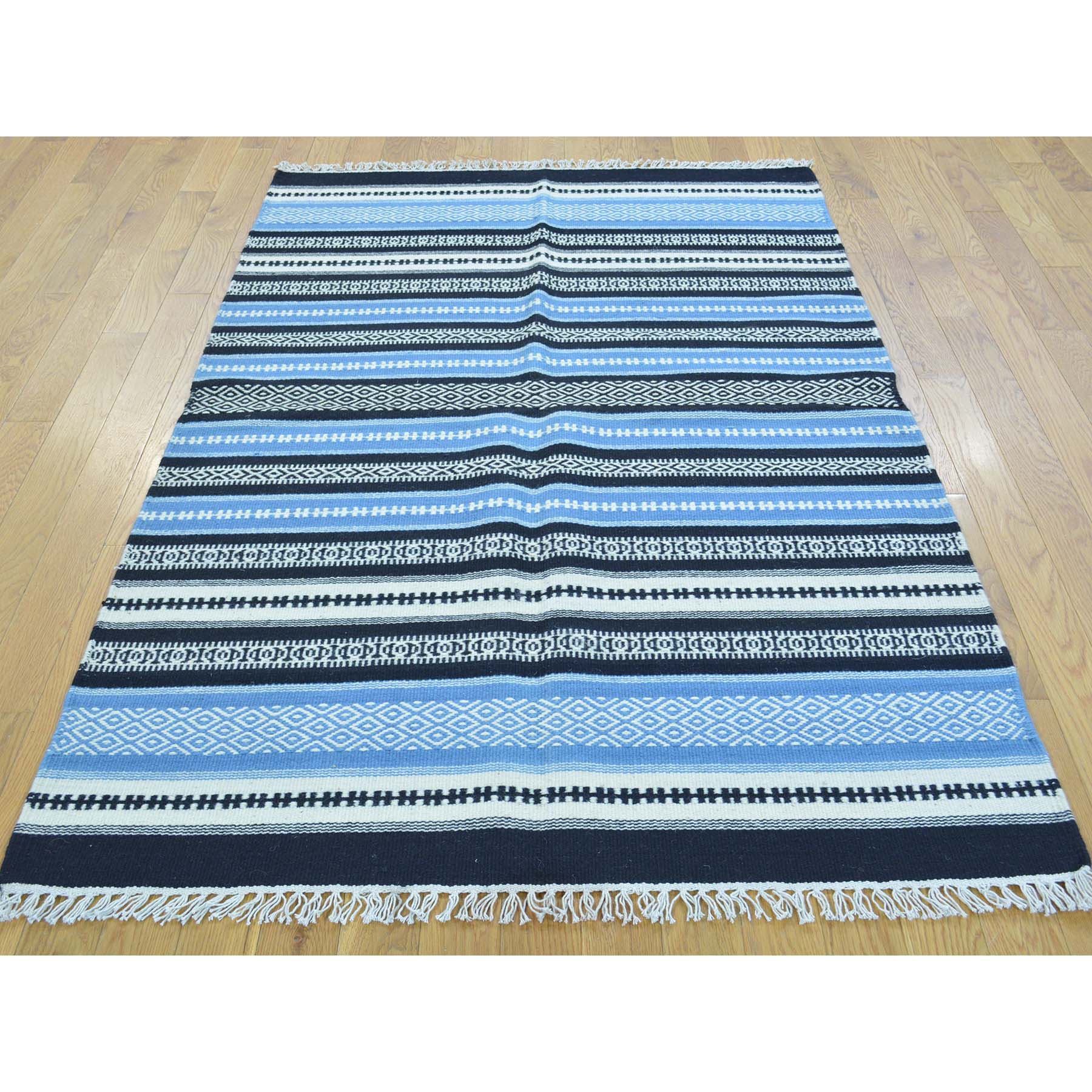 3-10 x6-1  Striped Flat Weave Durie Kilim Hand Woven Oriental Rug