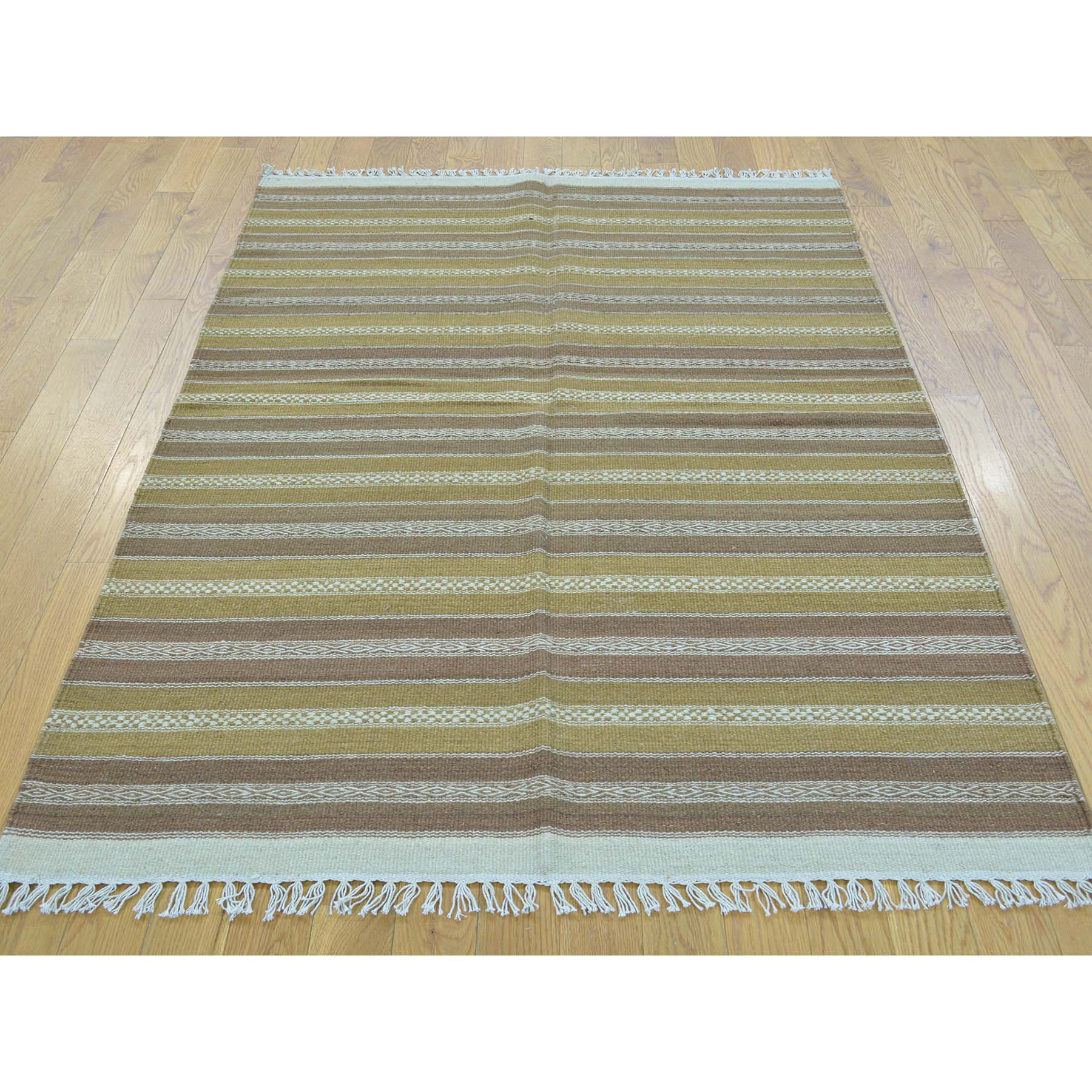3-10 x5-10  Striped Durie Kilim Hand Woven Flat Weave Oriental Rug