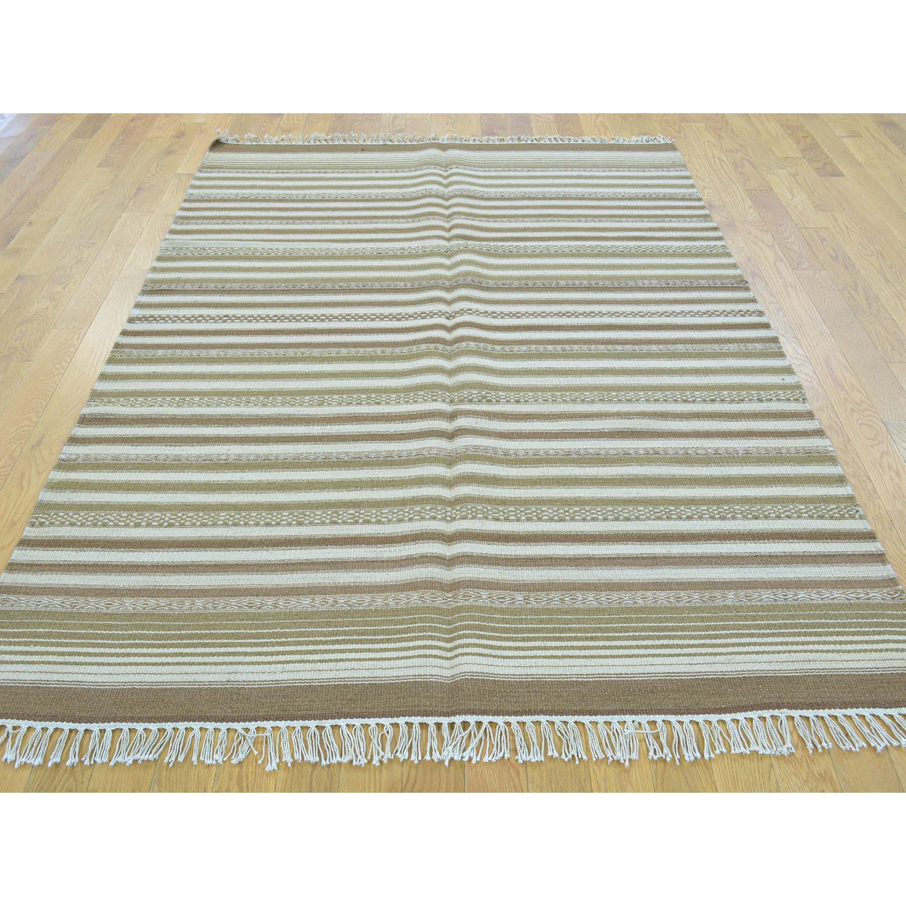 4-10 x7- Durie Kilim Reversible Flat Weave Hand Woven Oriental Rug