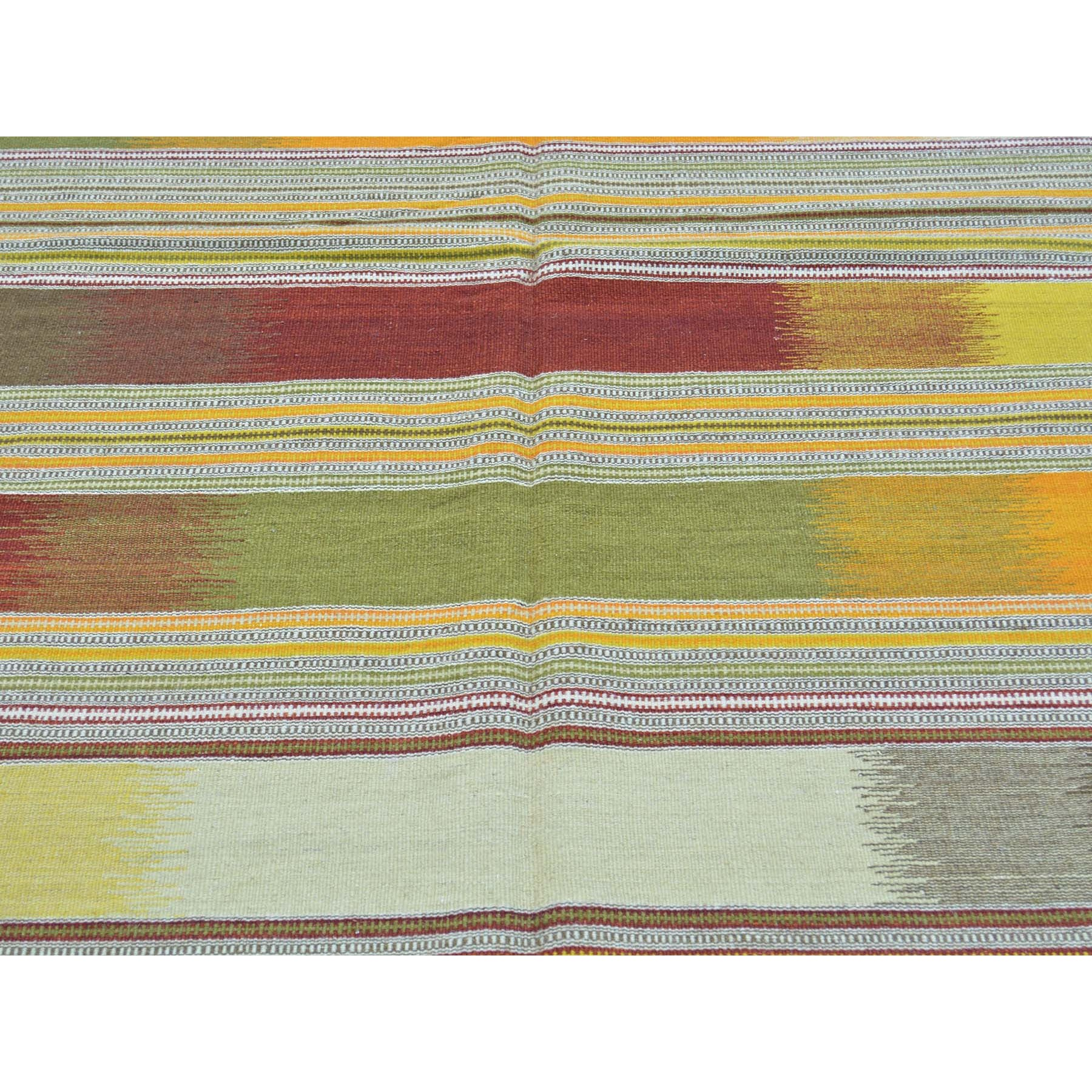 6-1 x9-4  Durie Kilim Colorful Flat Weave Hand Woven Oriental Rug