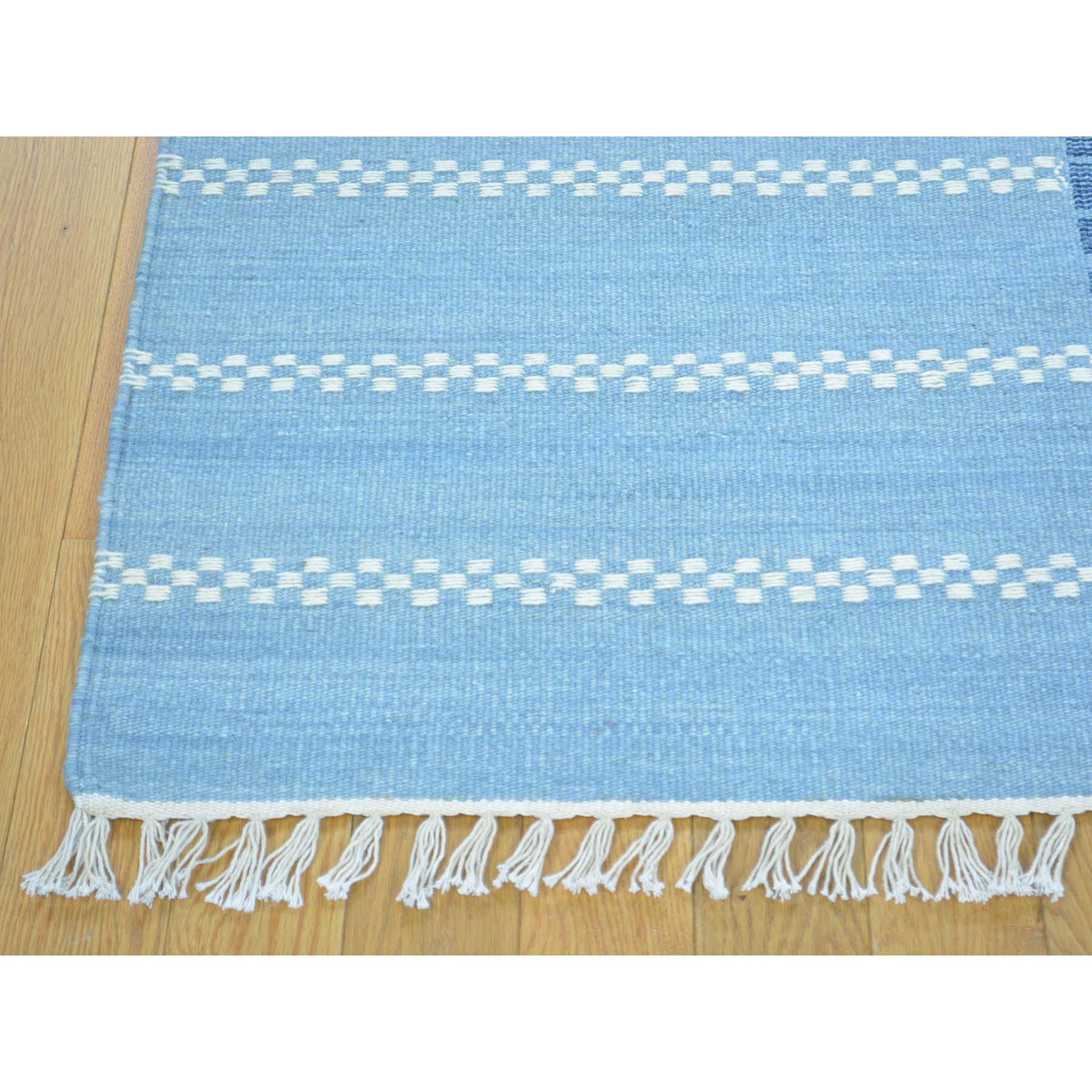 5-7 x7-9  Flat Weave Hand Woven Reversible Durie Kilim Pure Wool Rug