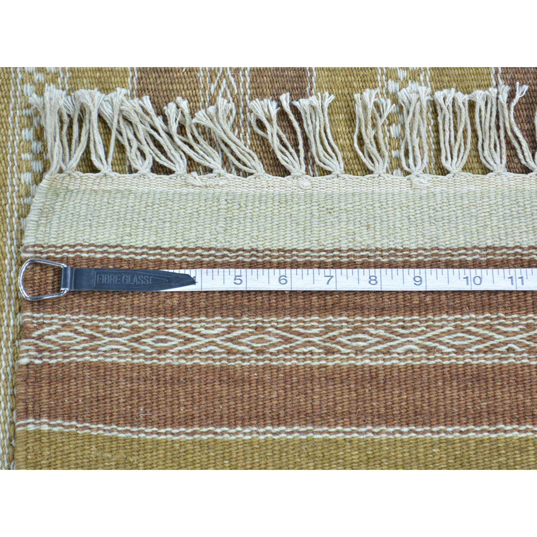2-9 x5- Flat Weave Reversible Durie Kilim Hand Woven Pure Wool Rug