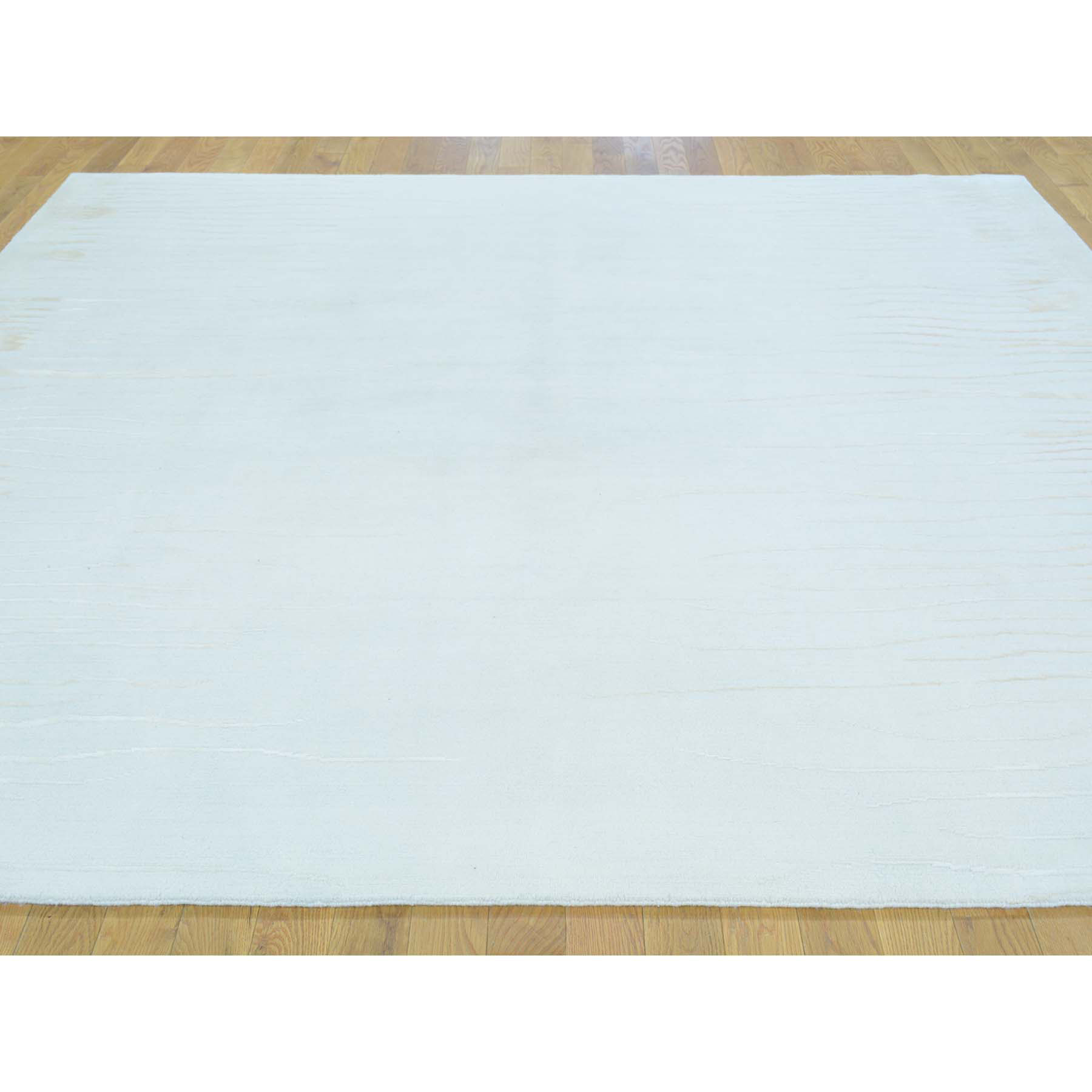 8-x8- Square Wool and Silk Nepali Modern Hand Knotted Oriental Rug