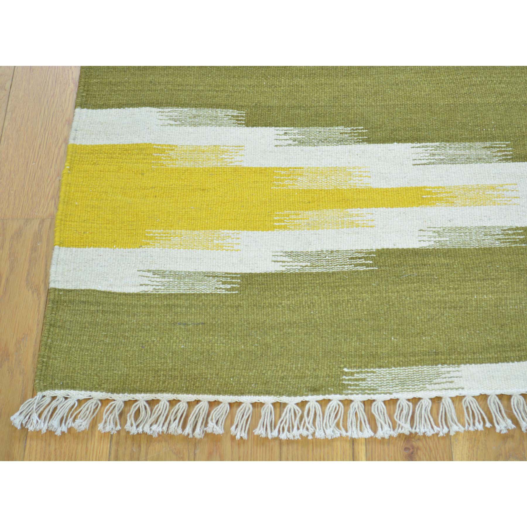 4-1 x6-3  Flat Weave Hand Woven Durie Kilim Pure Wool Colorful Rug