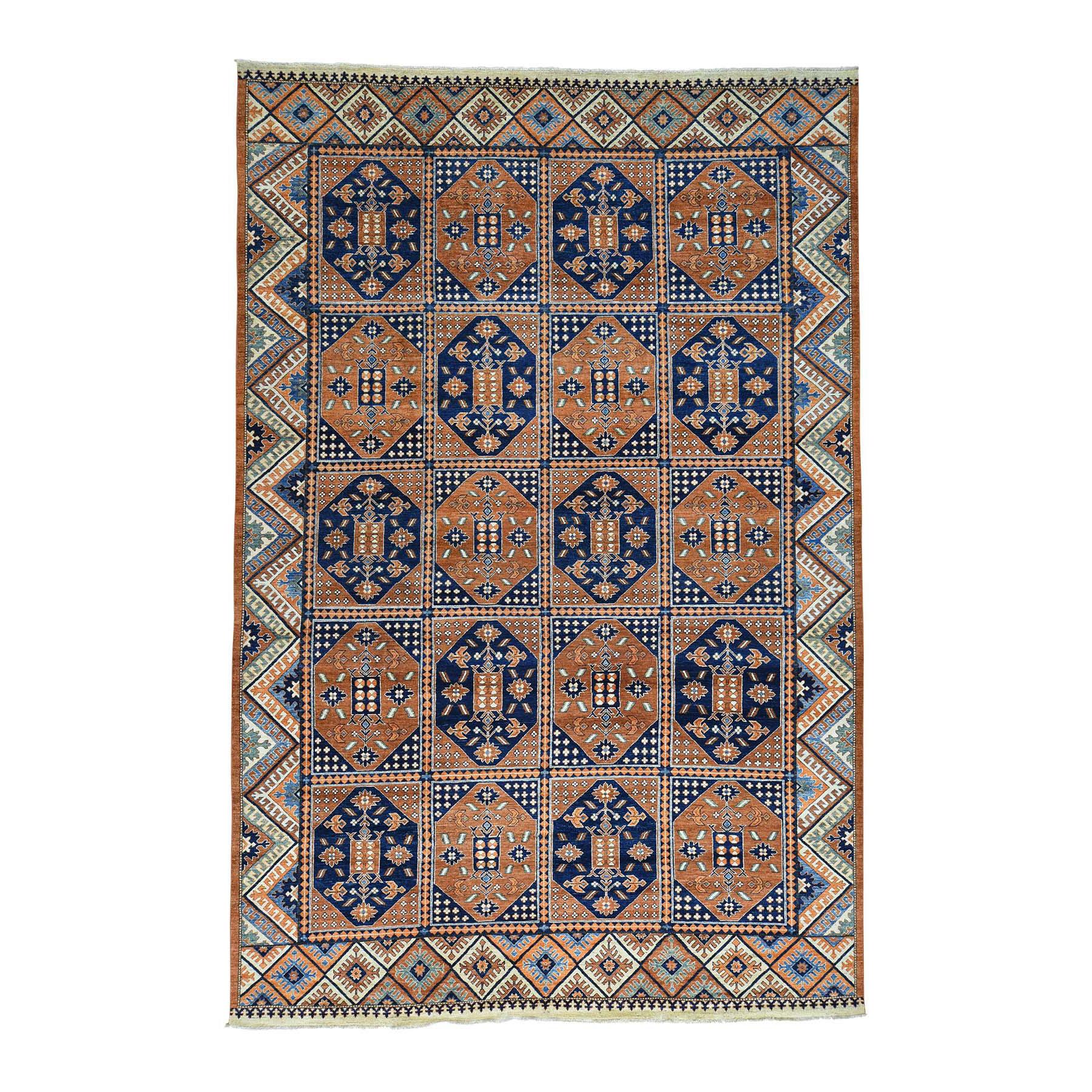 "9'10""X14'10"" Garden Design Afghan Ersari Hand Knotted Oriental Rug moac0cc6"