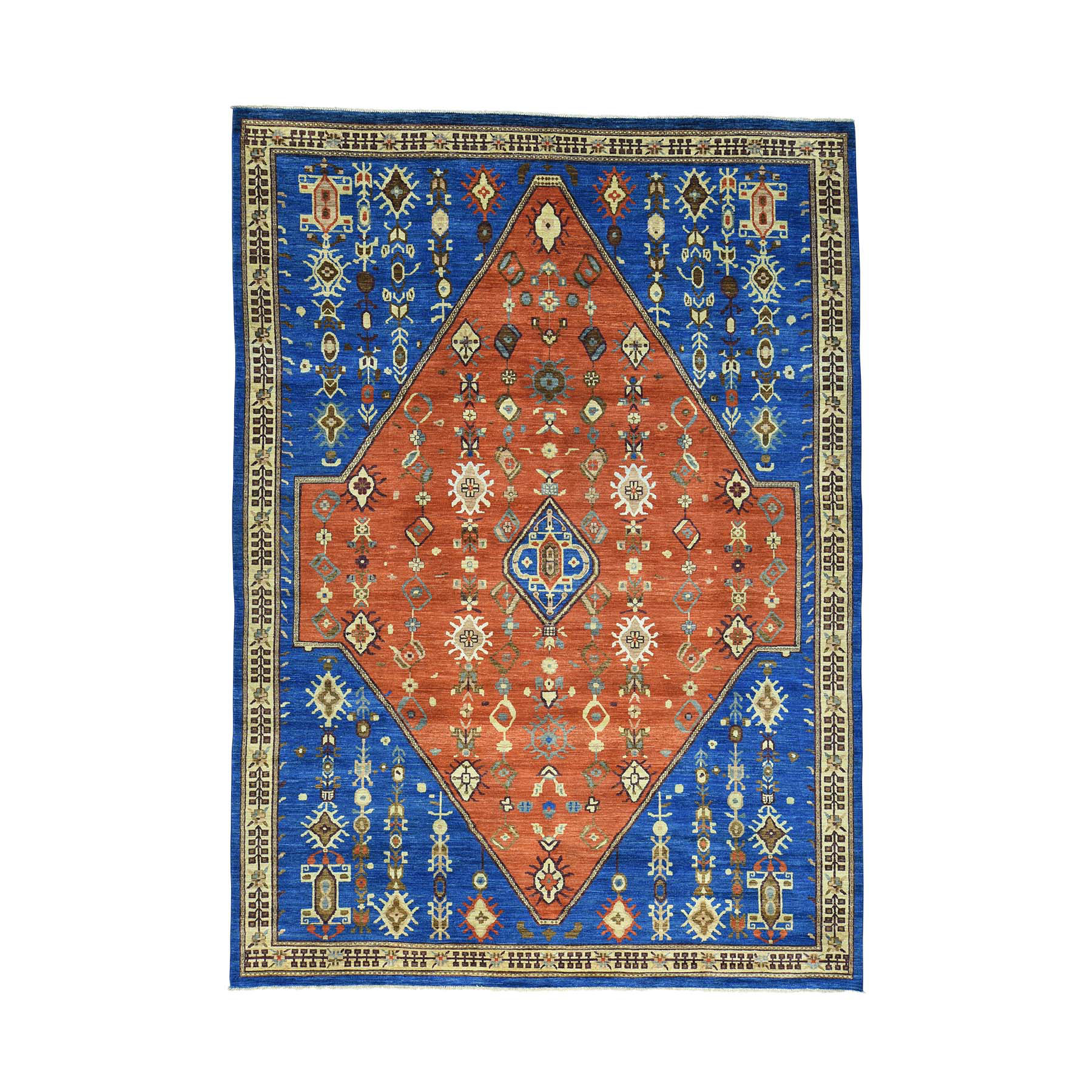 "10'2""X14'2"" Rust Red Bakshaish Afghan Ersari Hand Knotted Oriental Rug moac0c6c"