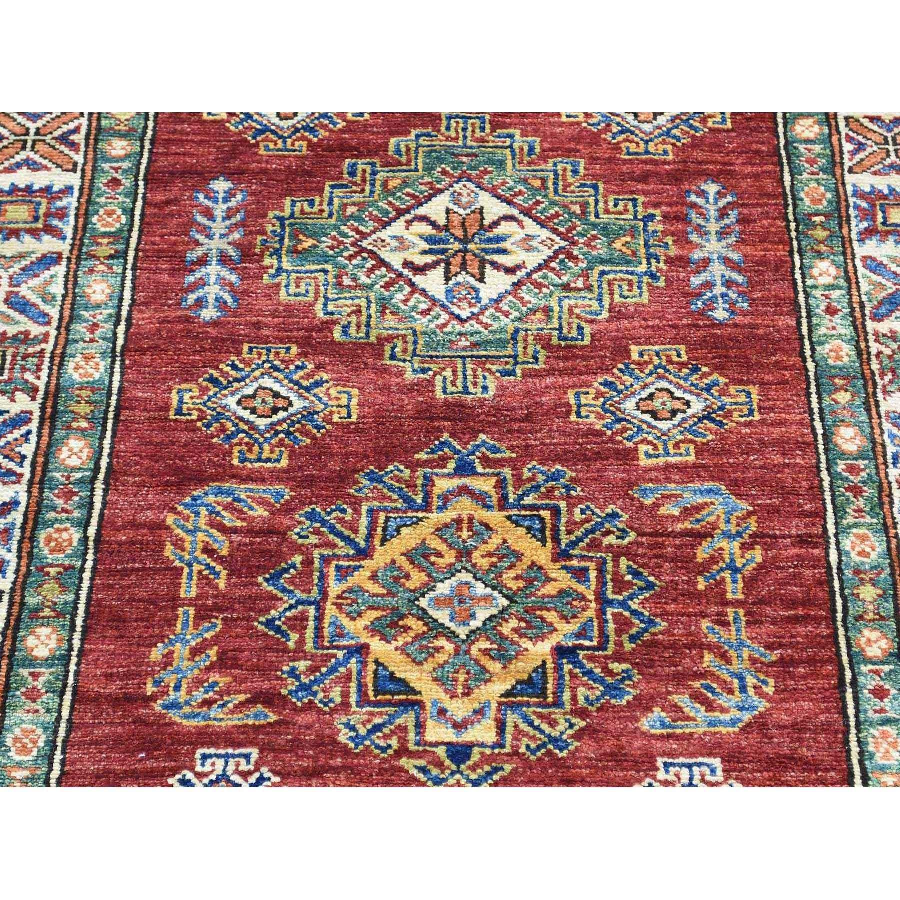 2-9 x17-6  Hand-Knotted Super Kazak XL Runner Pure Wool Oriental Rug