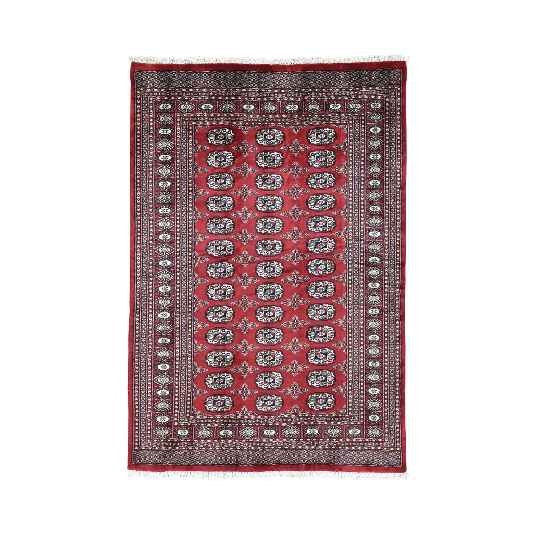 4'X6' Hand-Knotted High Quality Turkoman Bokara Pure Wool Oriental Rug moac06cb