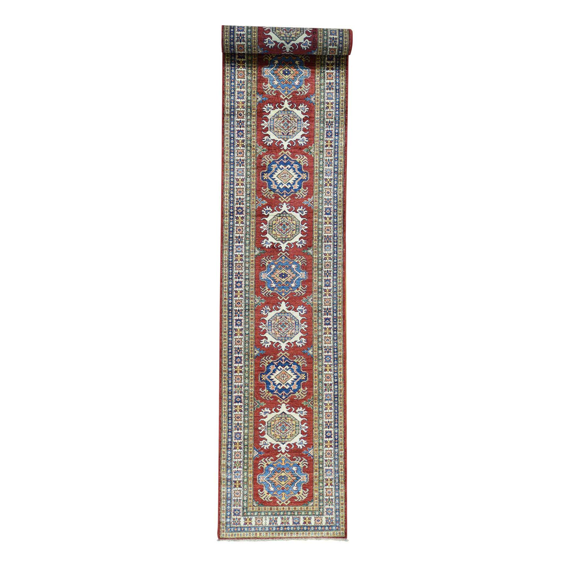 "2'8""X19' Hand-Knotted Xl Runner Super Kazak Tribal Design Oriental Rug moac08ba"