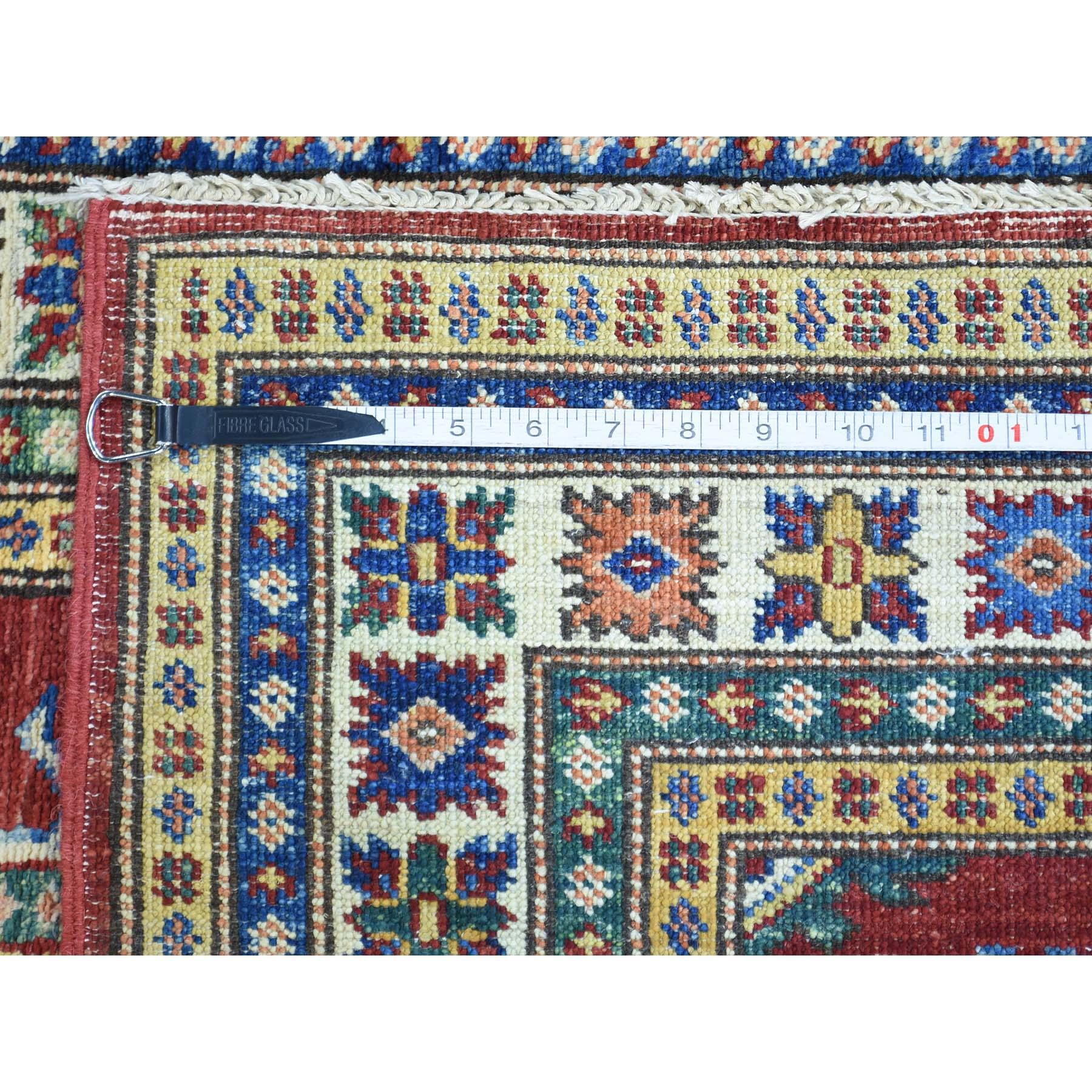 "2'7""x19' Hand-Knotted Tribal Design Super Kazak XL Runner Oriental Rug"