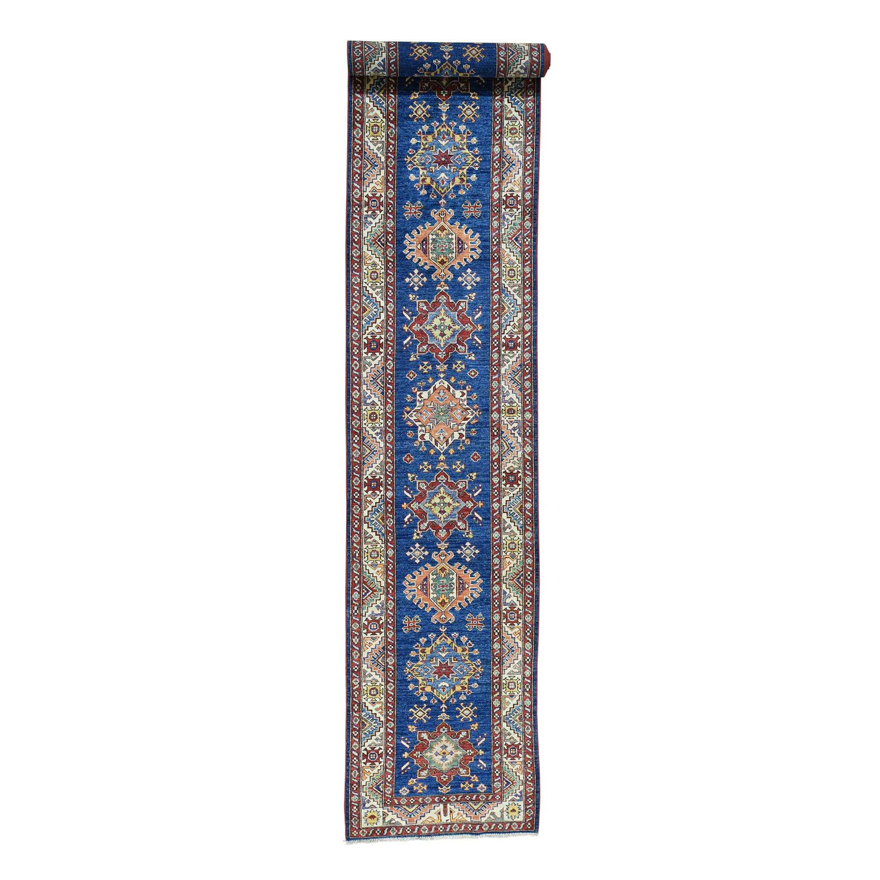 "2'9""X17'4"" Hand-Knotted Super Kazak Xl Runner Tribal Design Oriental Rug moac09c8"
