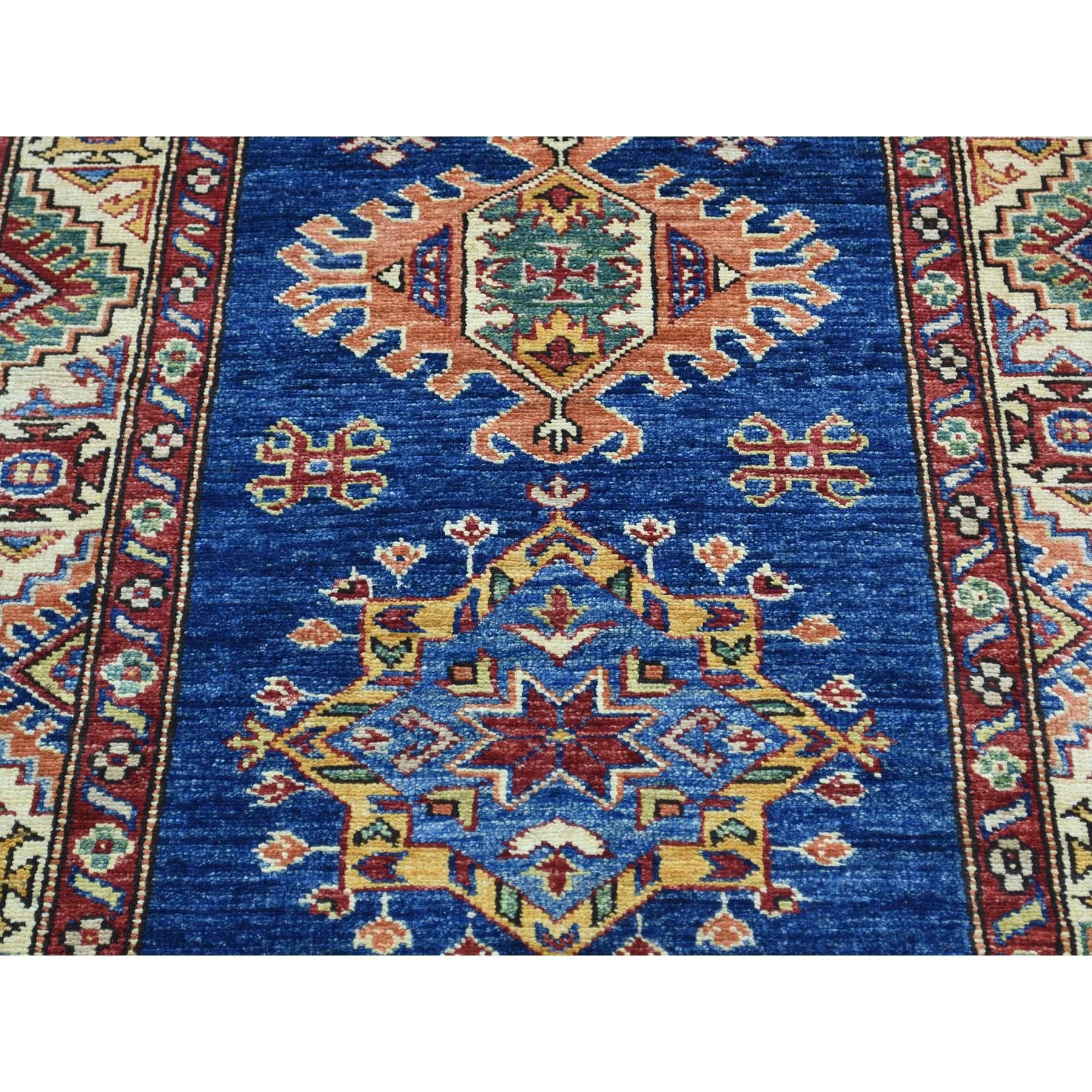 "2'9""x17'4"" Hand-Knotted Super Kazak XL Runner Tribal Design Oriental Rug"