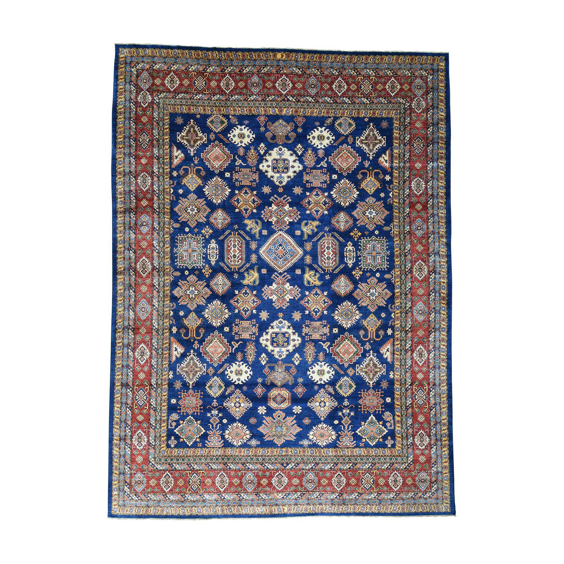 "11'10""X16'2"" Hand-Knotted Super Kazak Oversize Pure Wool Oriental Rug moacac8e"