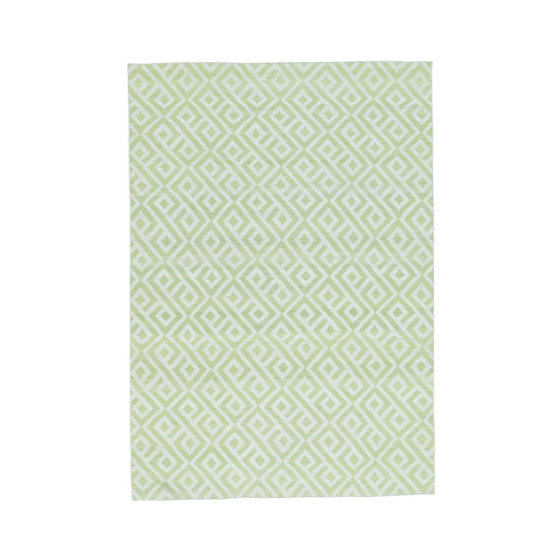 "5'x7'1"" Hand-Woven Reversible Kilim Pure Wool Flat Weave Oriental Rug"