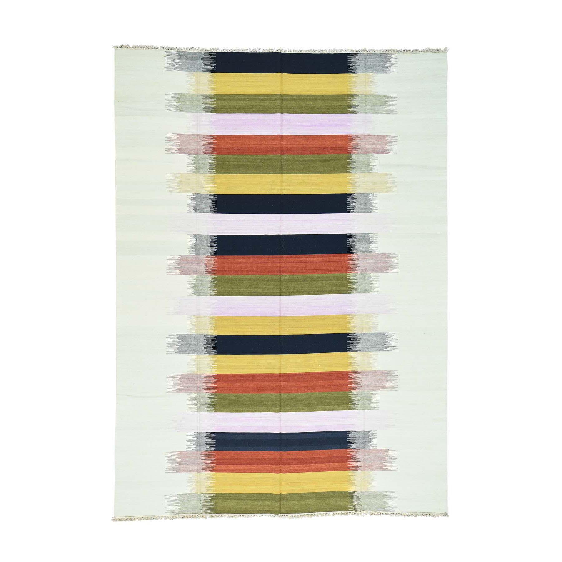 "9'X12'6"" Hand-Woven Flat Weave Reversible Durie Kilim Oriental Rug moaca8aa"