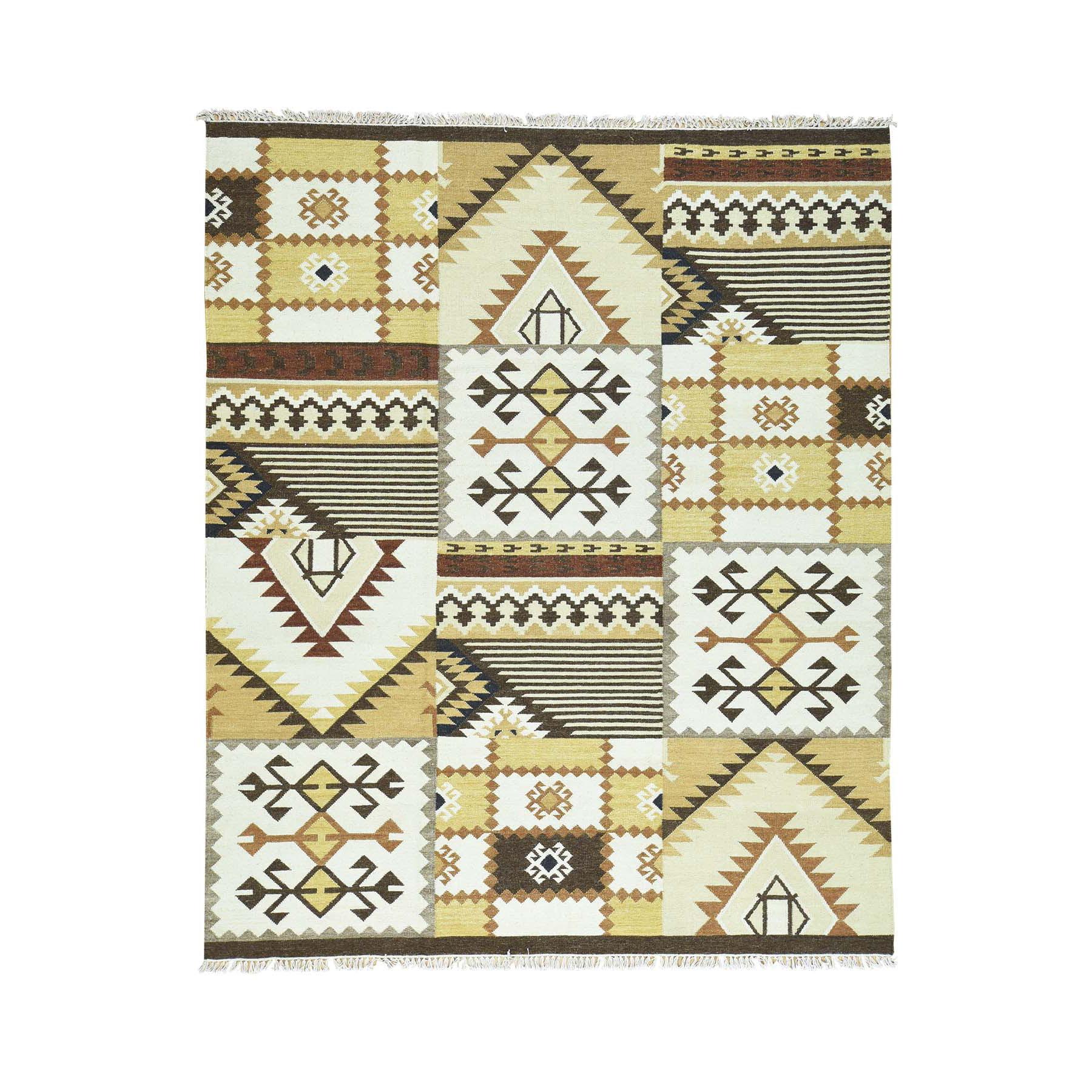 "8'3""X10'2"" Hand-Woven Anatolian Durie Kilim Oriental Flat Weave Rug moaca89b"