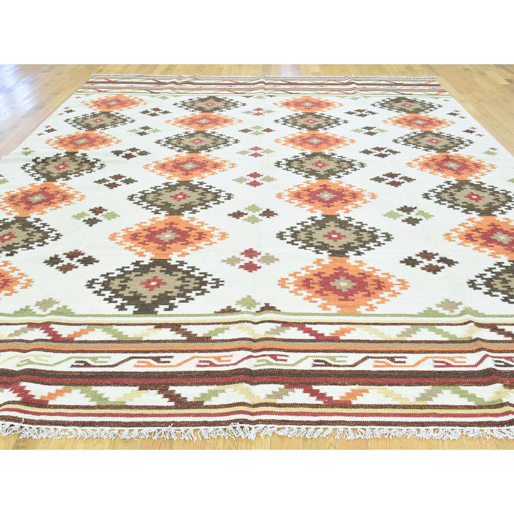9-3 x11-8  Hand-Woven Anatolian Durie Kilim Flat Weave Oriental Rug
