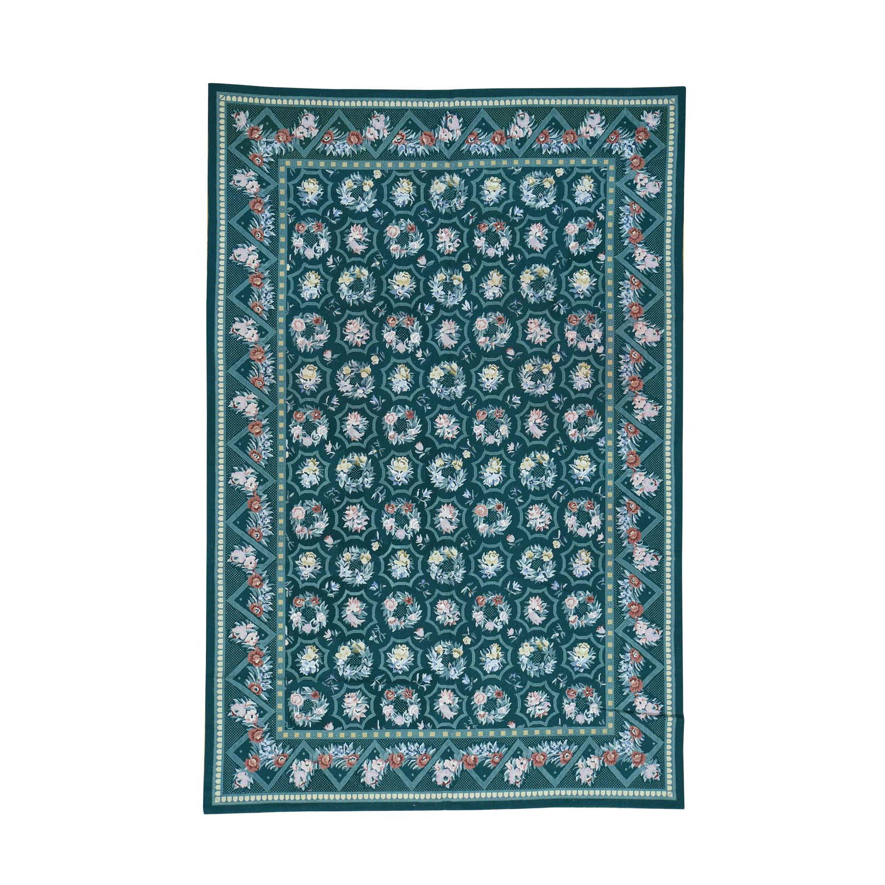 "6'1""X9'2"" Needlepoint Flat Weave Pure Wool Hand-Woven Oriental Rug moaca9b9"
