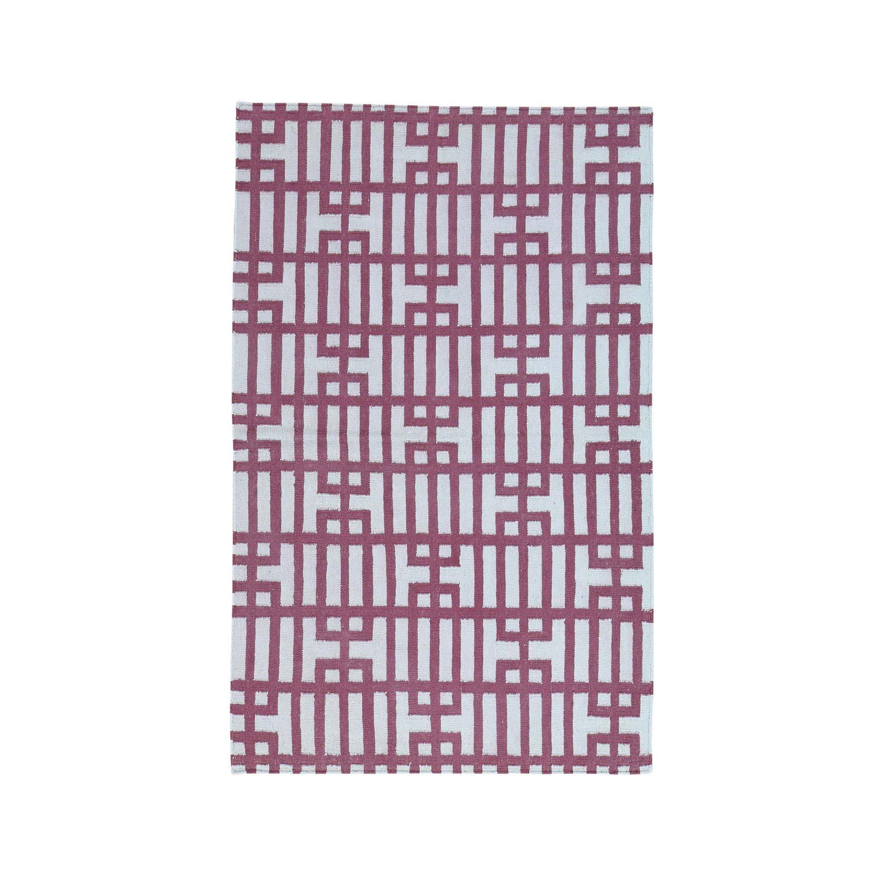 "4'X6'2"" Hand-Woven Reversible Kilim Geometric Design Flat Weave Rug moacb0a6"