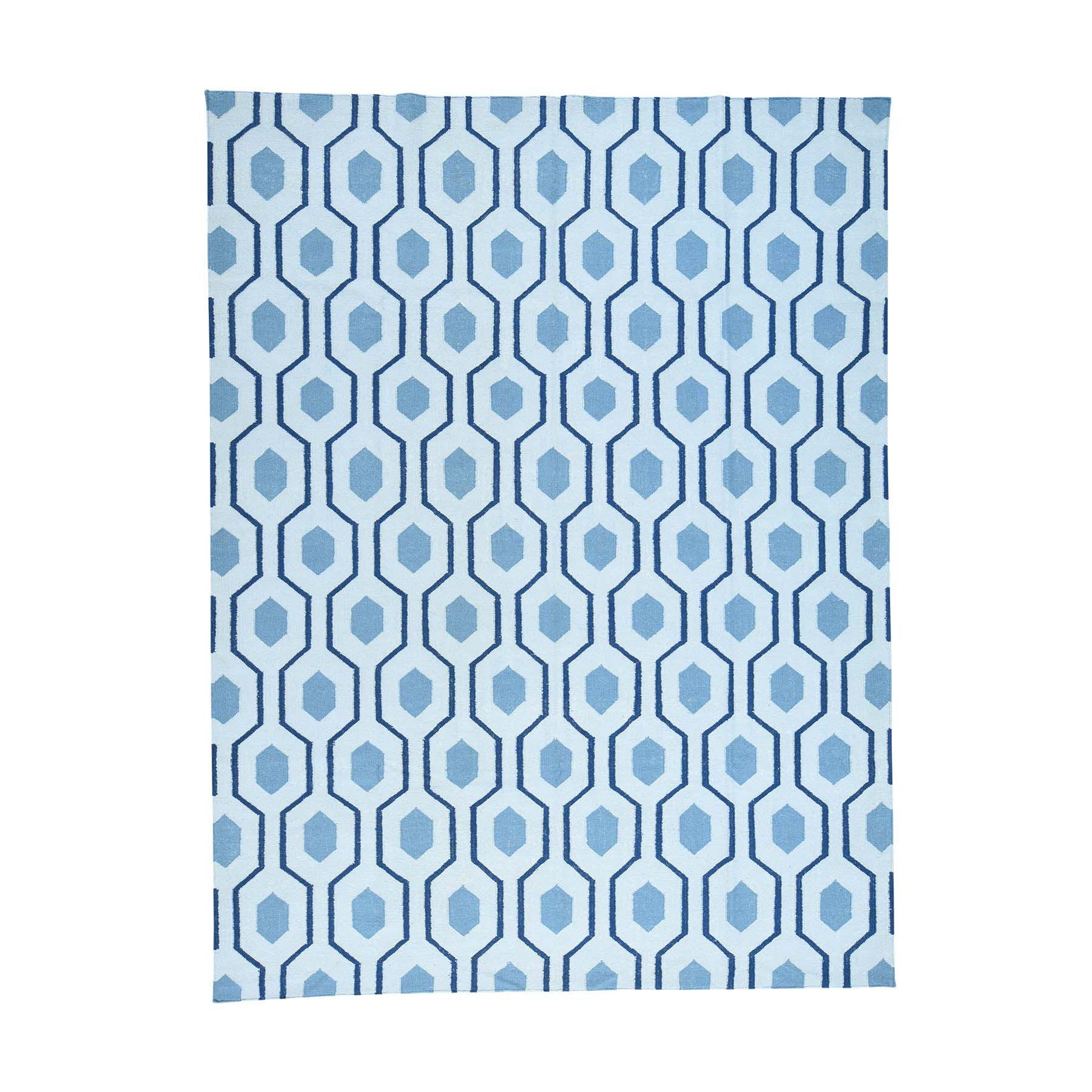 "9'1""X12' Handmade Geometric Design Reversible Kilim Flat Weave Carpet moacb0cd"