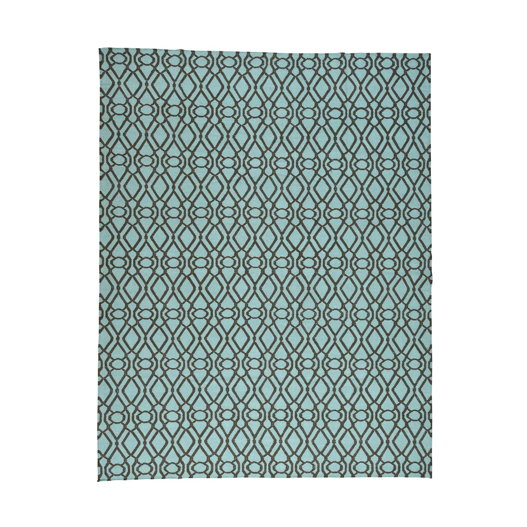 "9'3""x12' Light Green Reversible Kilim Flat Weave Hand-Woven Oriental Rug"