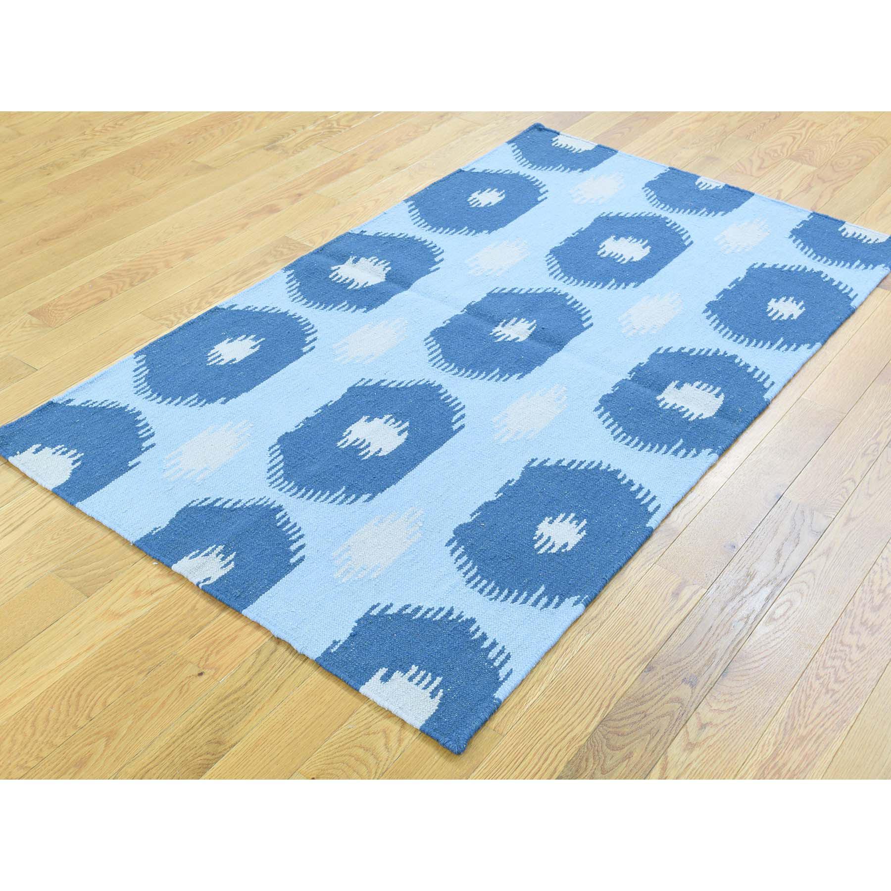 3-1 x5-2  Reversible Kilim Flat Weave Hand-Woven Pure Wool Oriental Rug