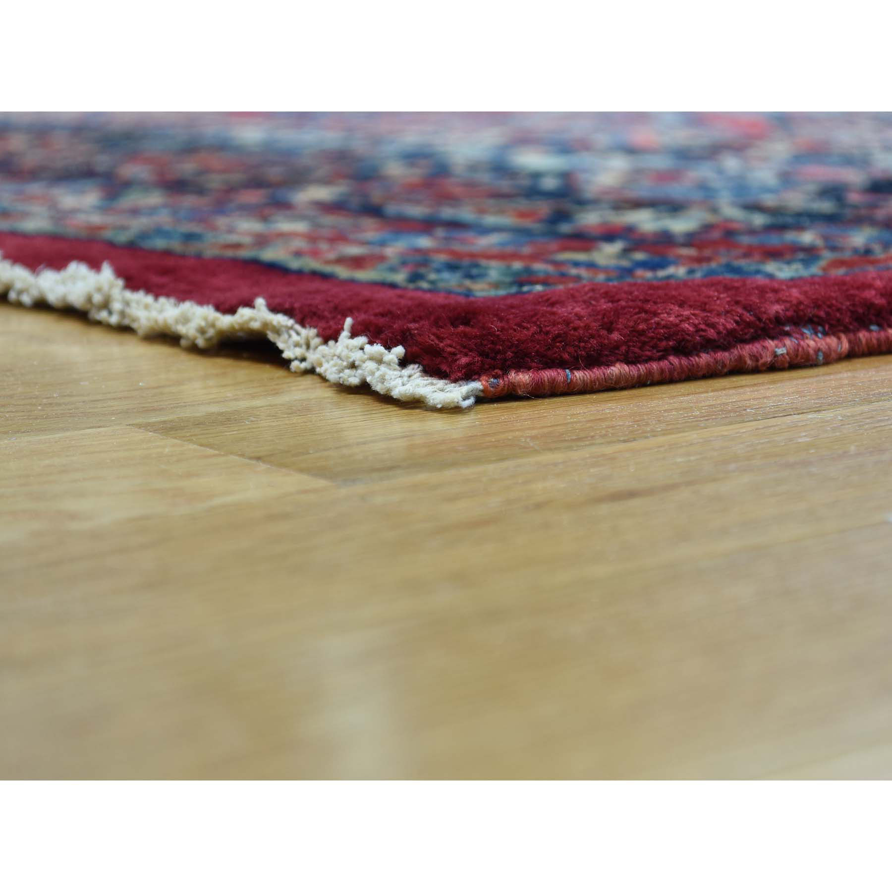 9-x25-7  Hand-Knotted Antique Persian Sarouk Gallery Size Exc Cond Rug